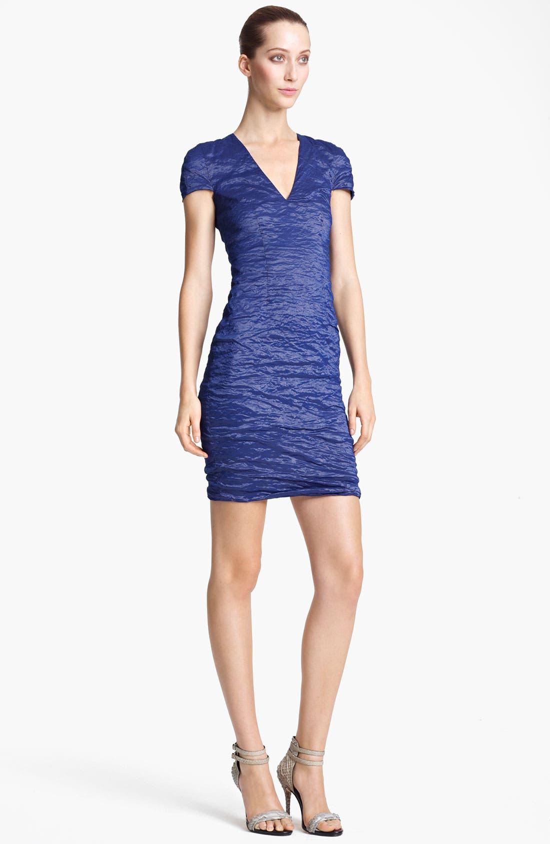 Alternate Image 1 Selected - Yigal Azrouël Stretch Metallic Taffeta Dress