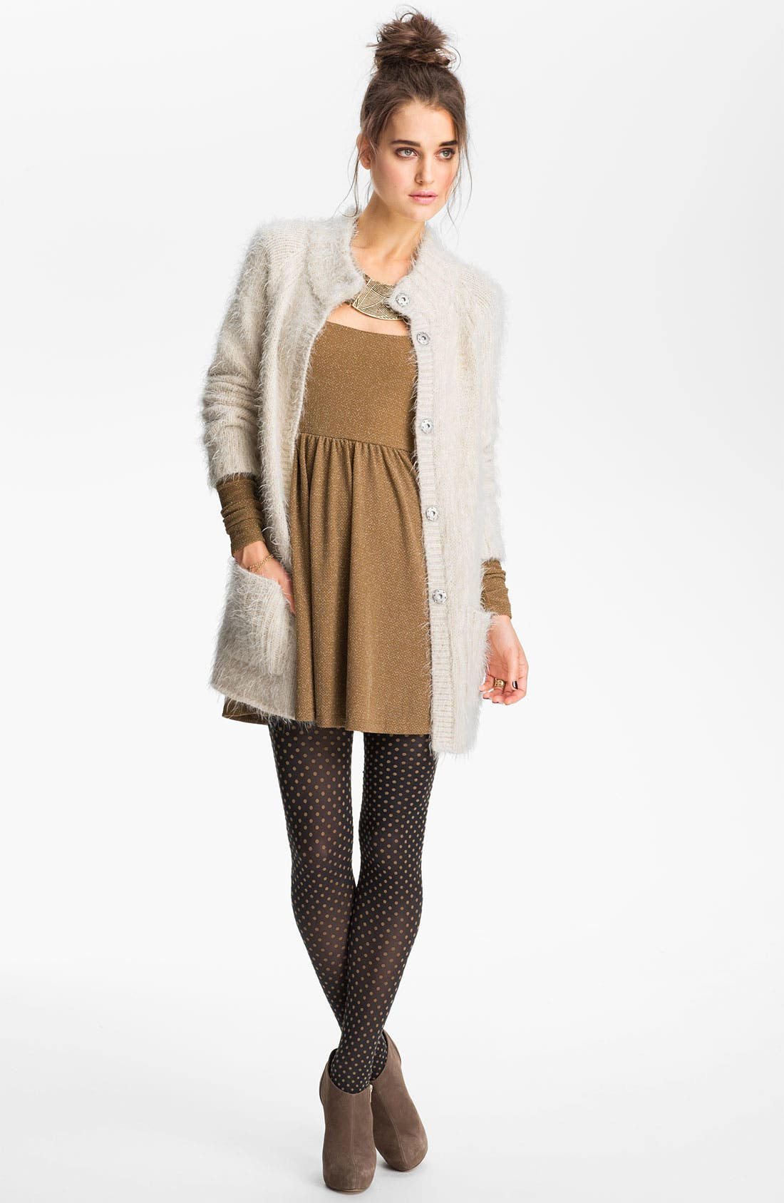 Main Image - Free People Feather Knit Cardigan
