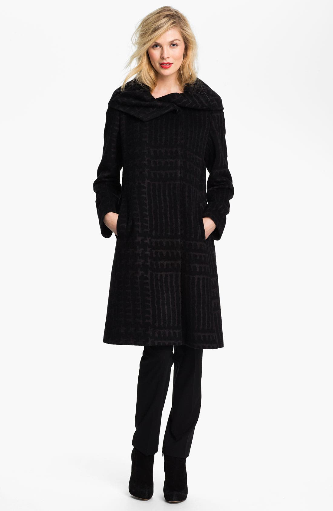 Alternate Image 1 Selected - Cinzia Rocca Patterned Wool Blend Coat