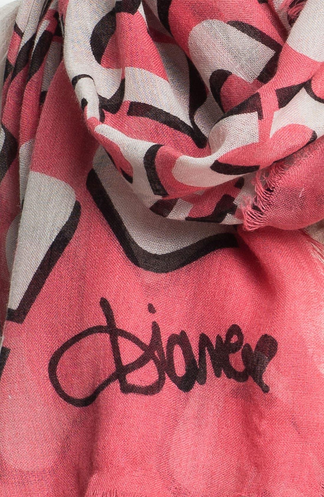 Alternate Image 2  - Diane von Furstenberg 'Hanover' Wool & Silk Scarf
