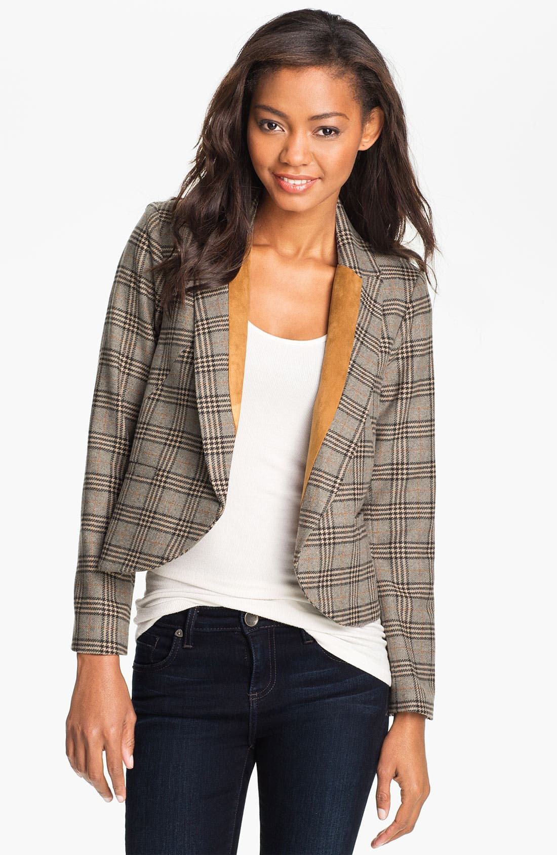 Alternate Image 1 Selected - Max & Mia Plaid Jacket
