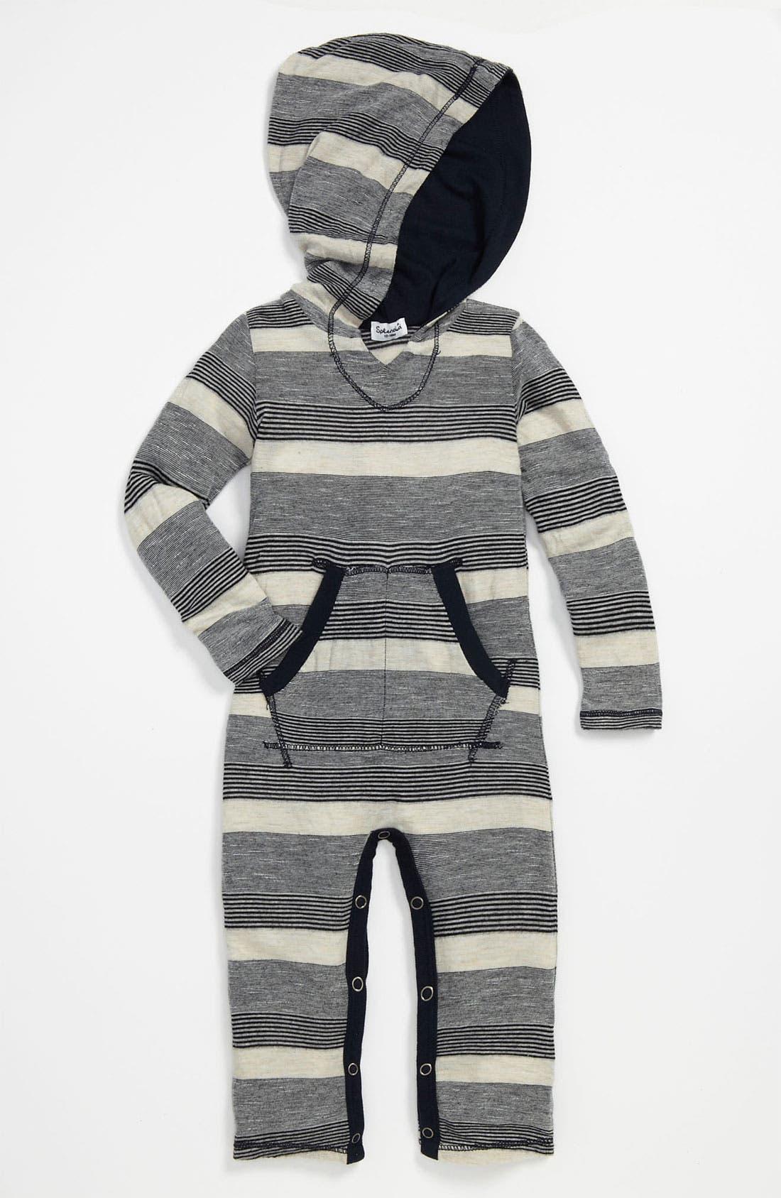 Alternate Image 1 Selected - Splendid Hooded Romper (Infant)
