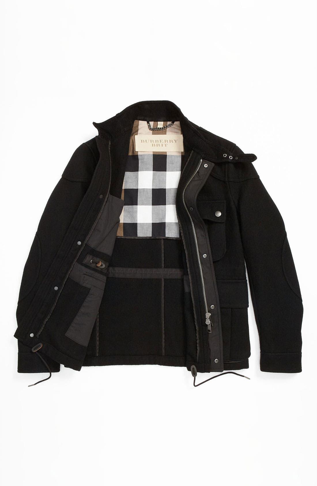 Alternate Image 5  - Burberry Brit Wool Blend Field Jacket
