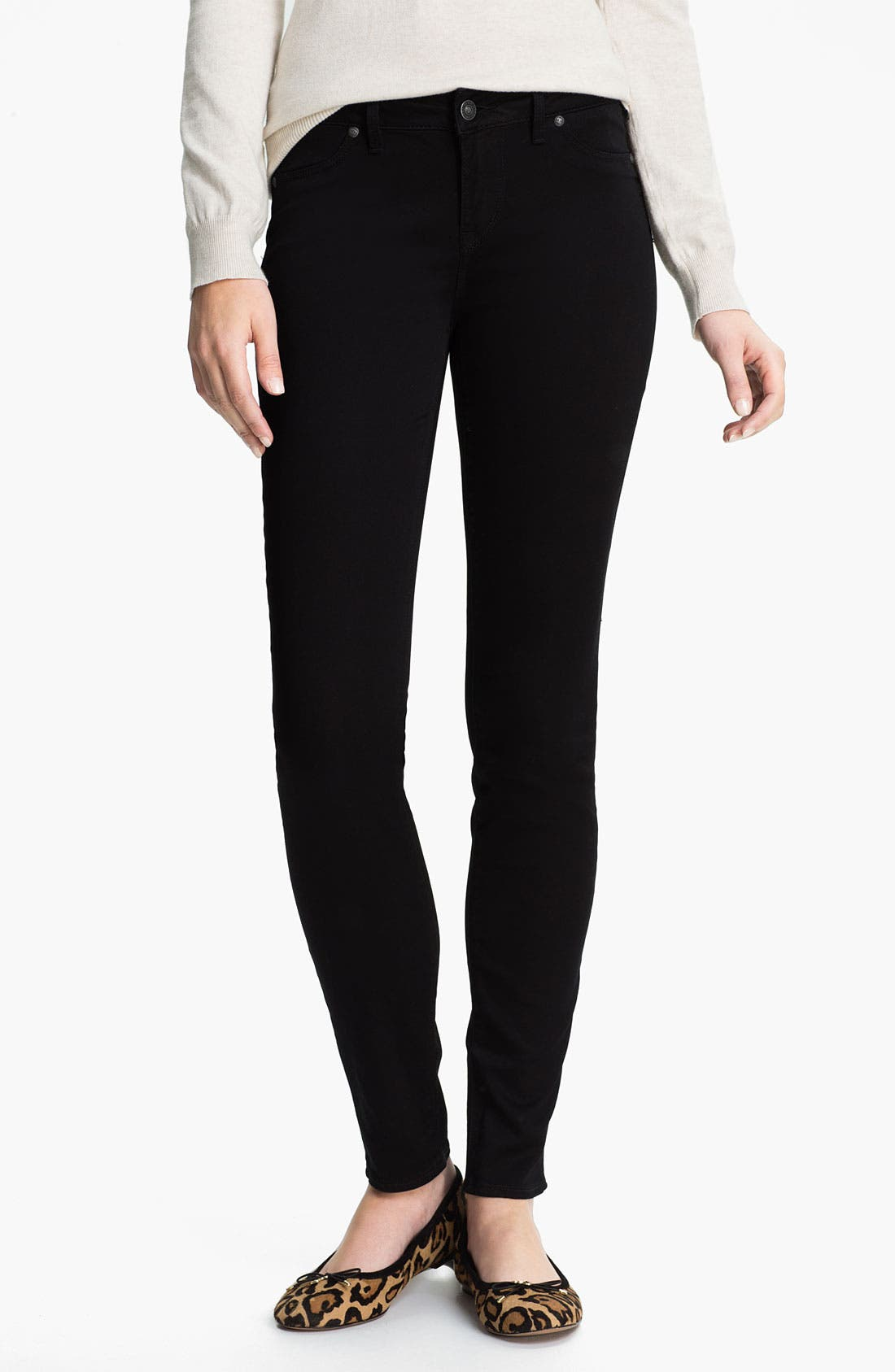 Alternate Image 2  - Silver Jeans Co. 'Ashlee' Stretch Skinny Jeans (Juniors)