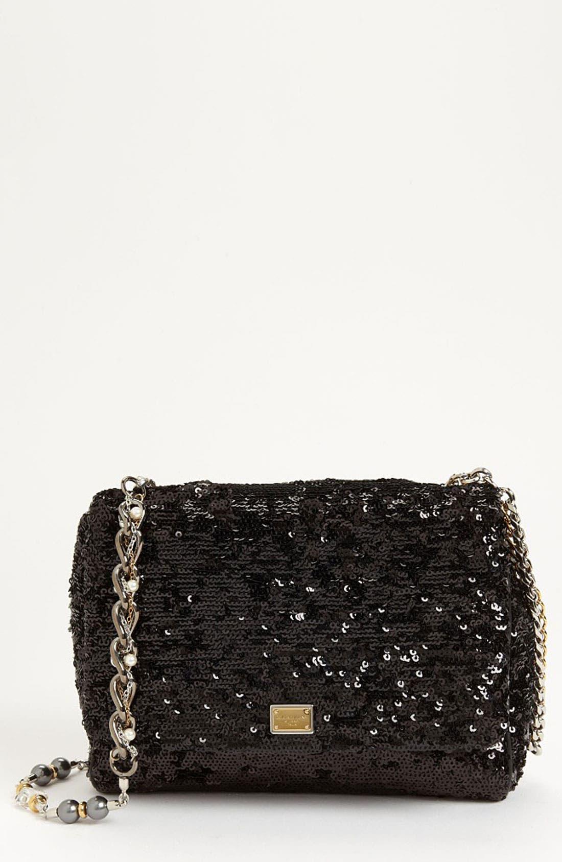 Main Image - Dolce&Gabbana 'Miss Charles' Sequin Shoulder Bag