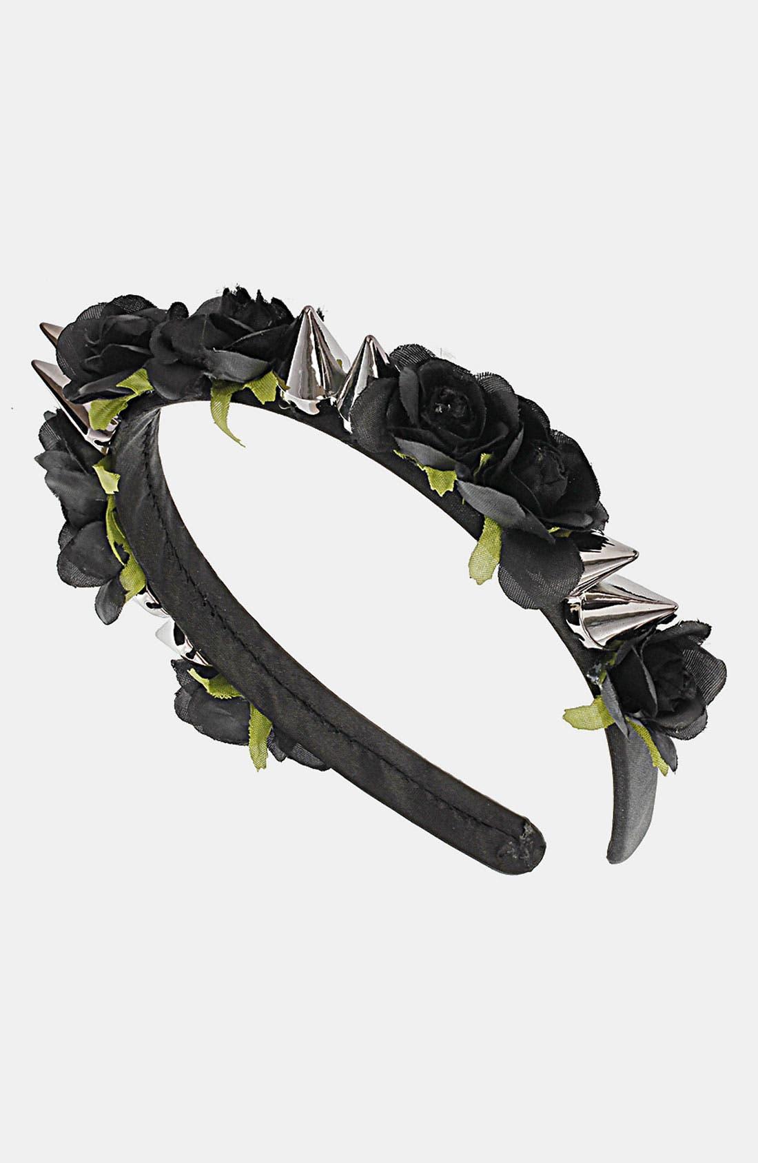 Alternate Image 1 Selected - Topshop Rose & Spike Headband