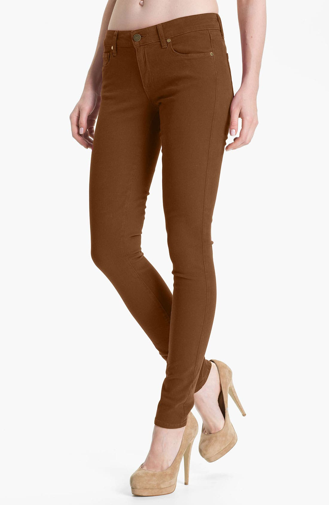 Main Image - Paige Denim 'Verdugo' Skinny Stretch Denim Jeans (Burnt)