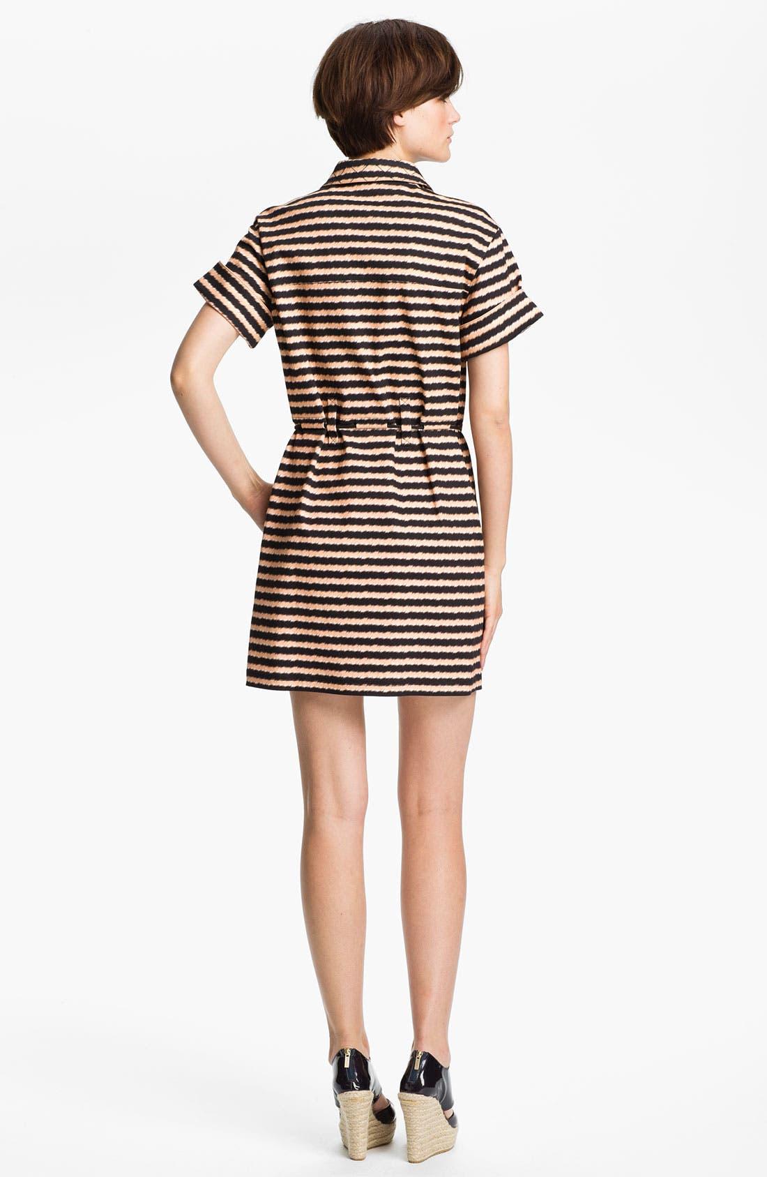 Alternate Image 2  - KENZO Stripe Stretch Cotton Shirtdress