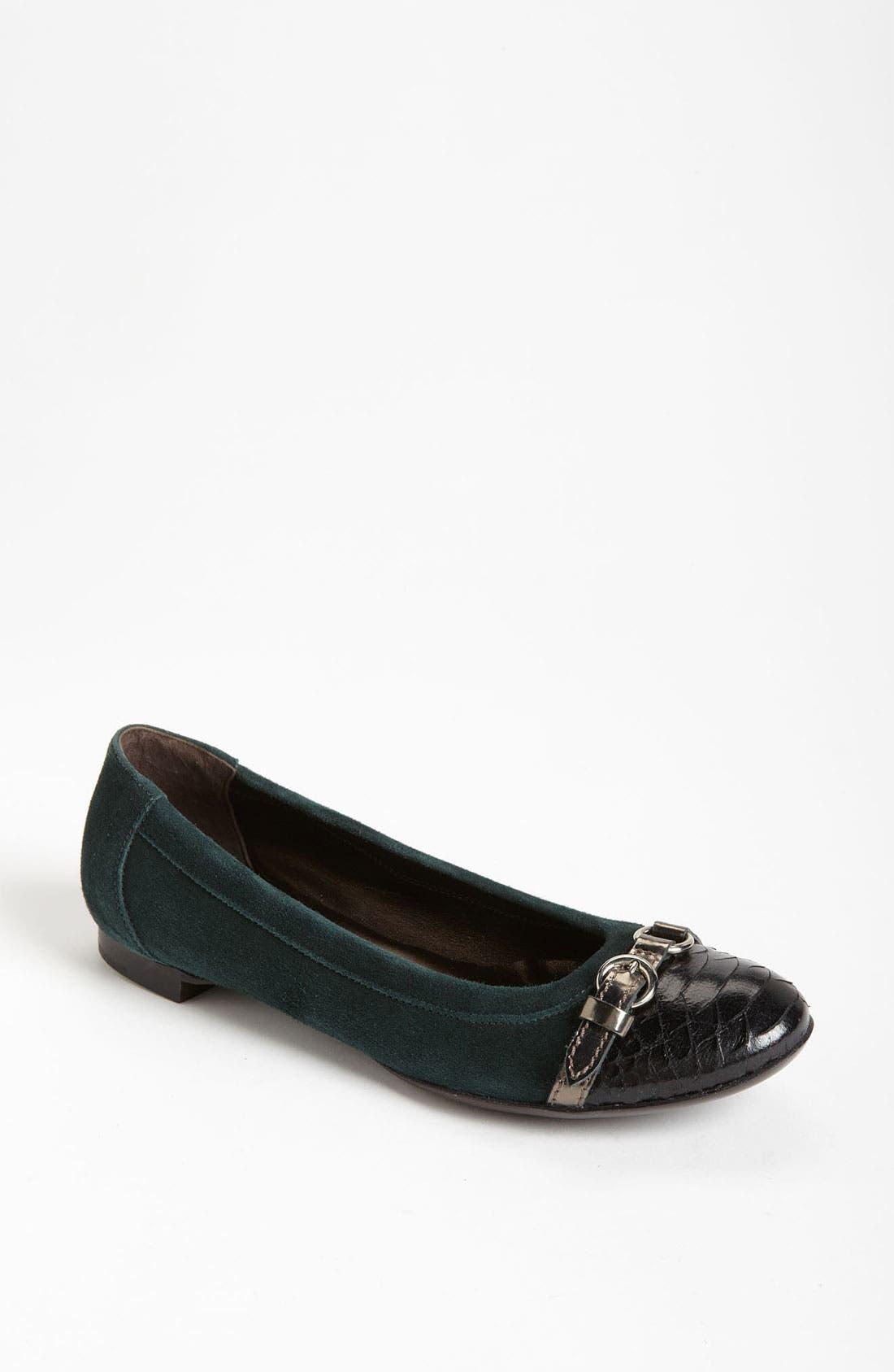 Main Image - AGL Cap Toe Ballerina Flat (Women)