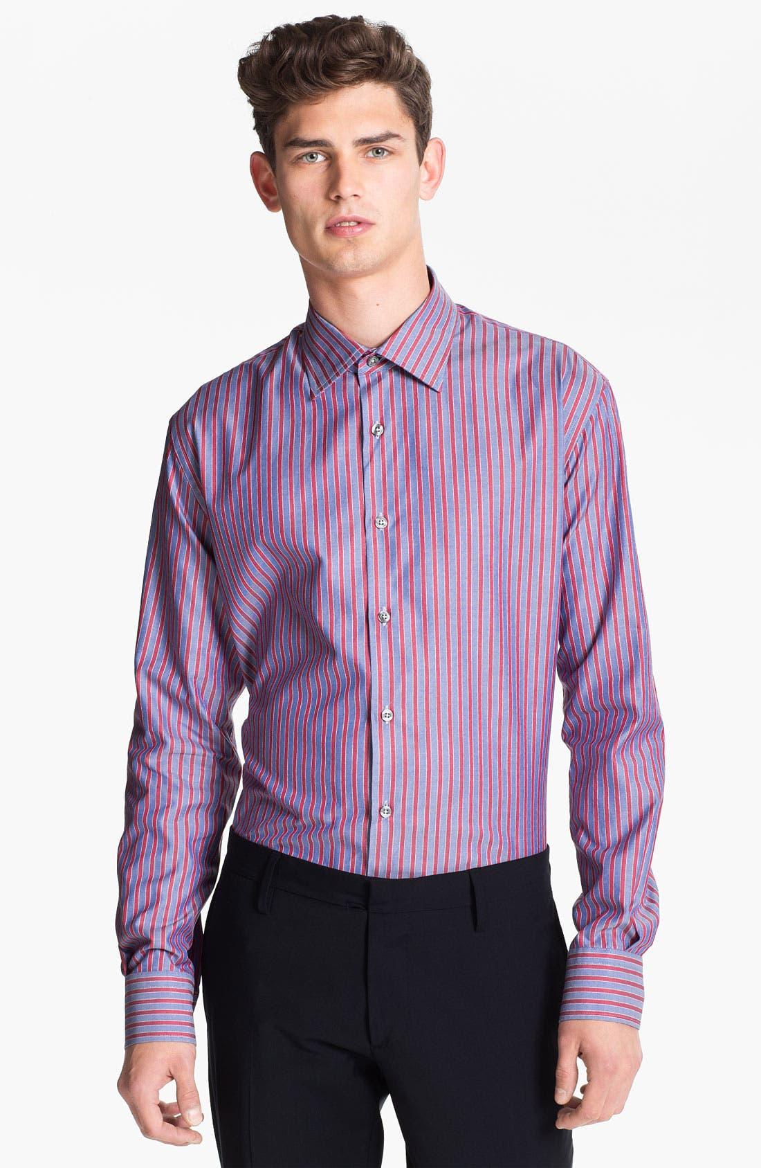 Alternate Image 1 Selected - Paul Smith London Stripe Dress Shirt