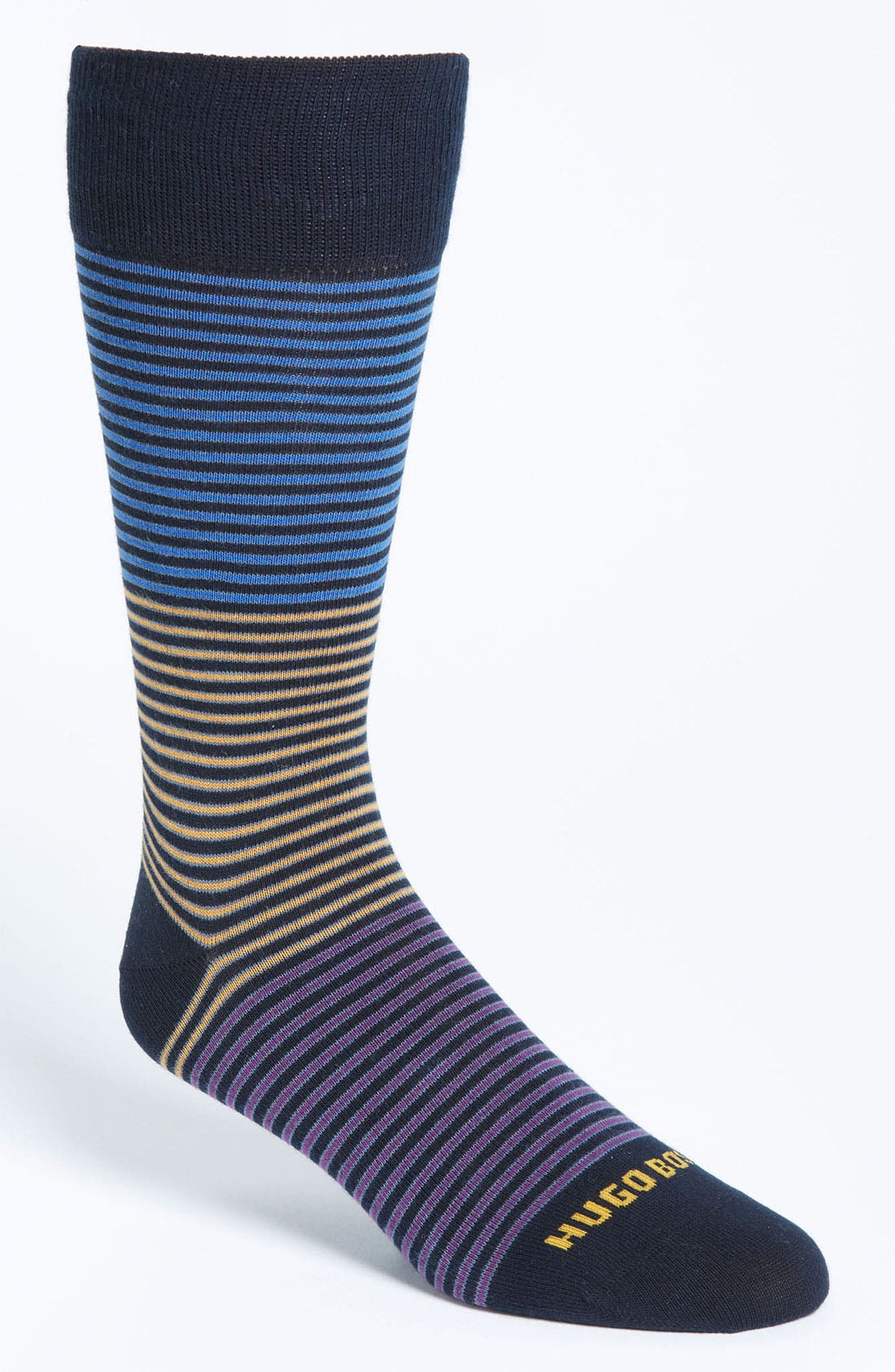 Alternate Image 1 Selected - BOSS Black Stripe Socks