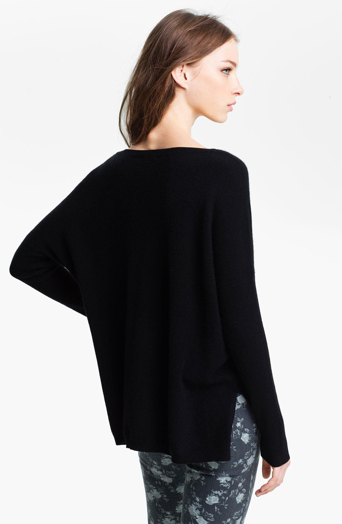 Alternate Image 2  - Halogen® High Low Cashmere Sweater