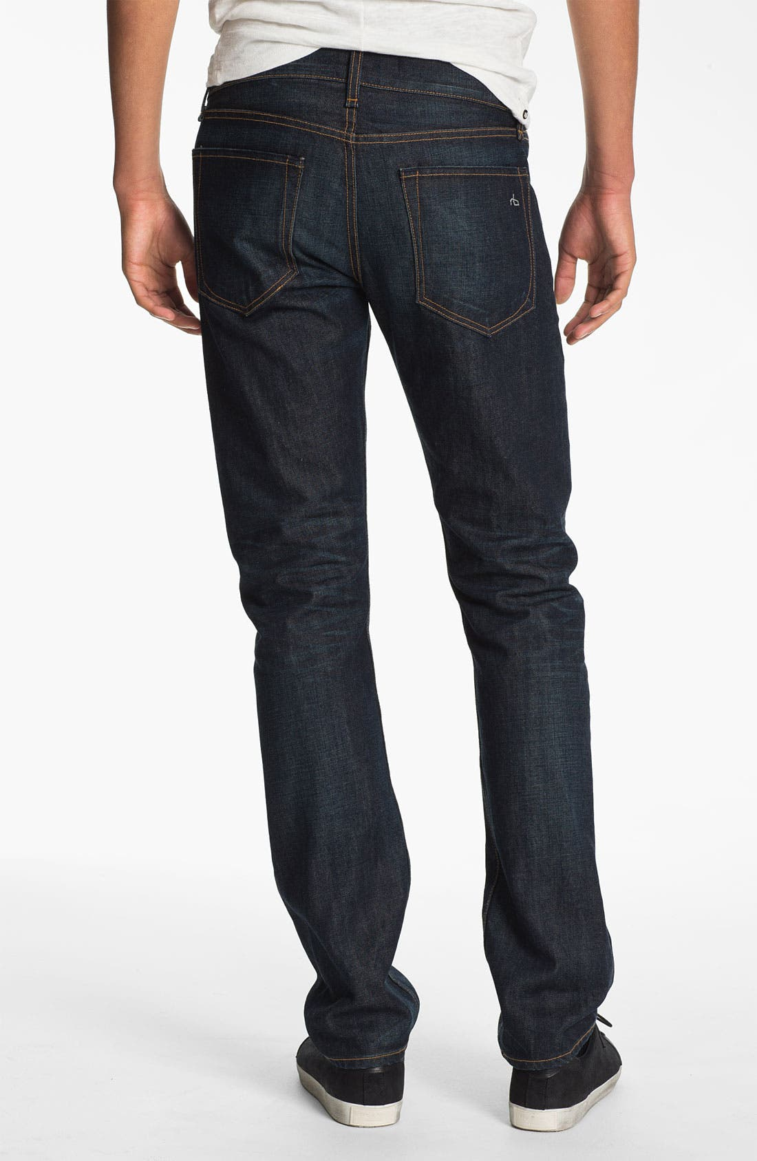 Alternate Image 2  - rag & bone 'RB19X' Slim Straight Leg Jeans (Dover Blue)