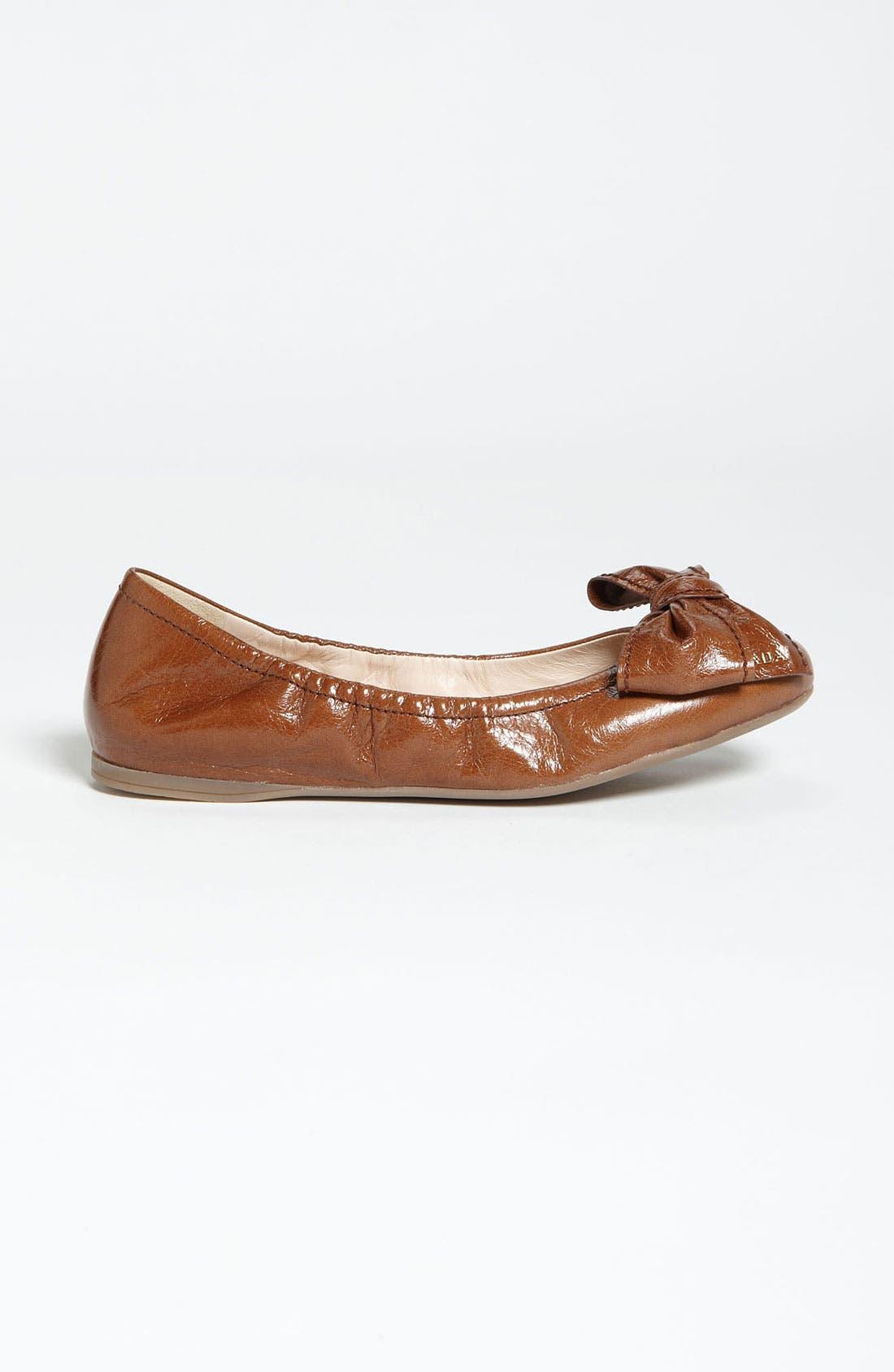 Alternate Image 4  - Prada Stitched Bow Ballet Flat
