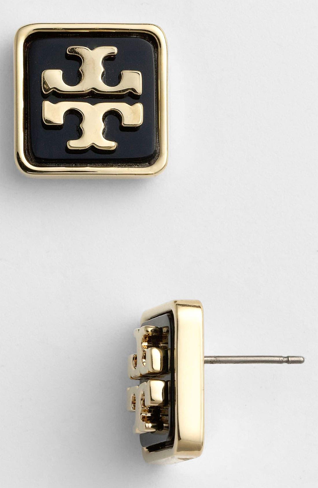 Main Image - Tory Burch 'Brody' Logo Stud Earrings