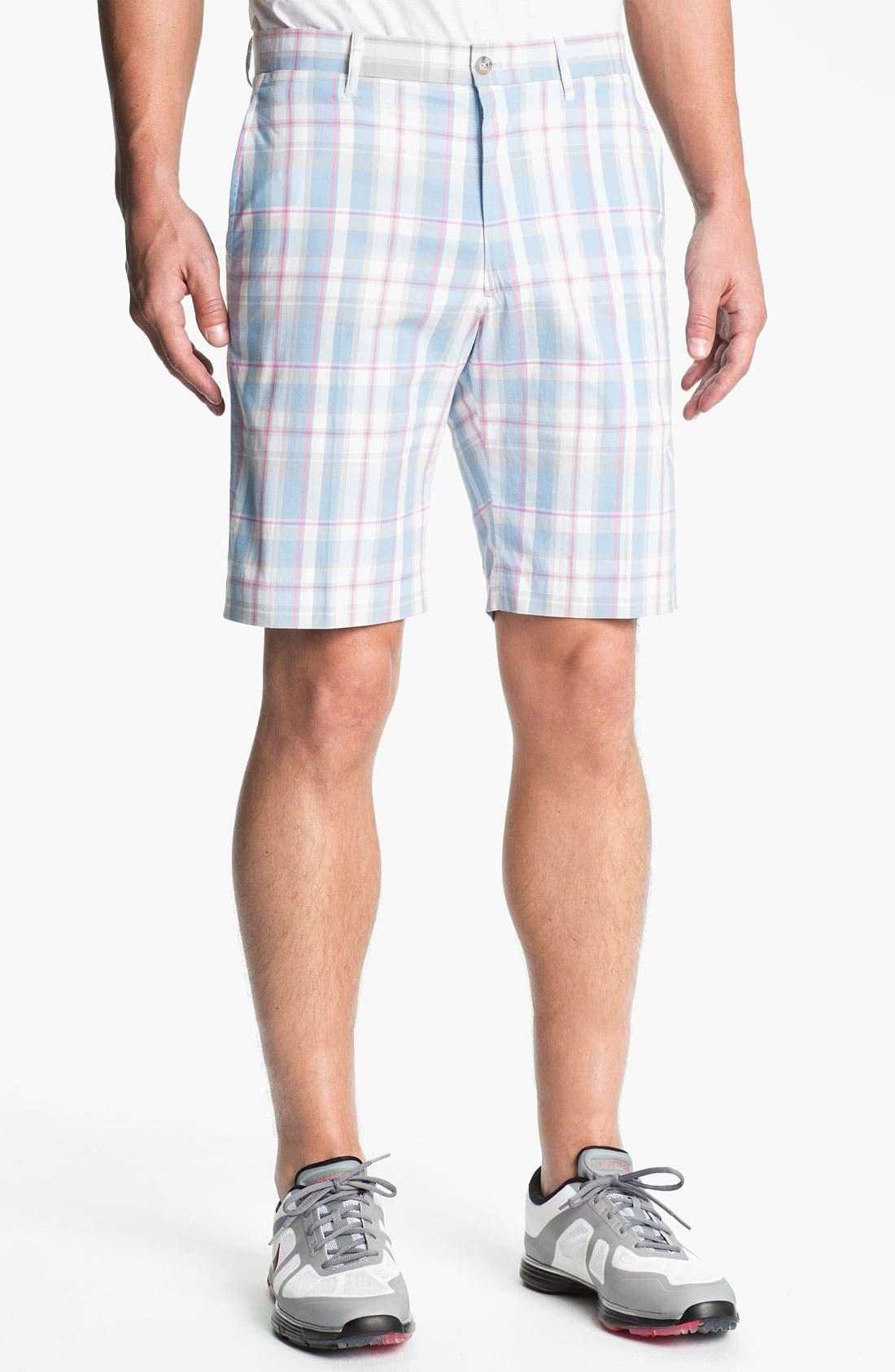 Main Image - Bobby Jones Flat Front Golf Shorts