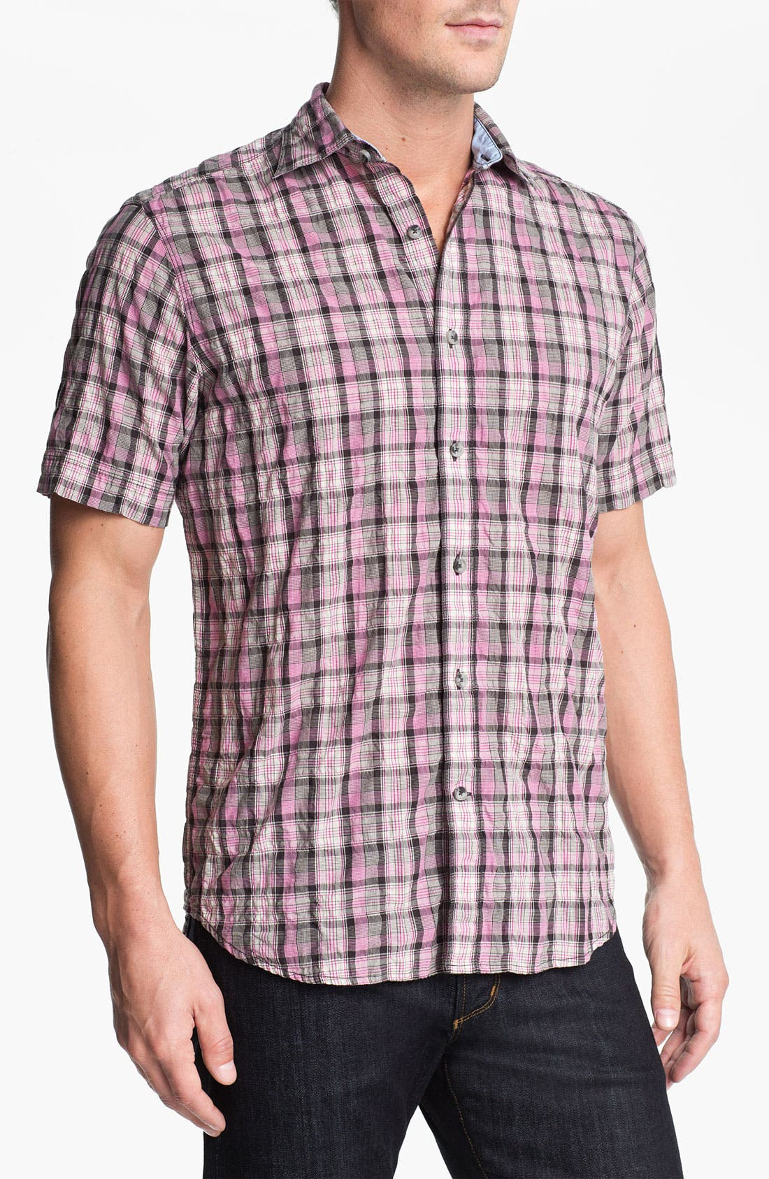 Main Image - James Campbell 'Moclips' Plaid Sport Shirt