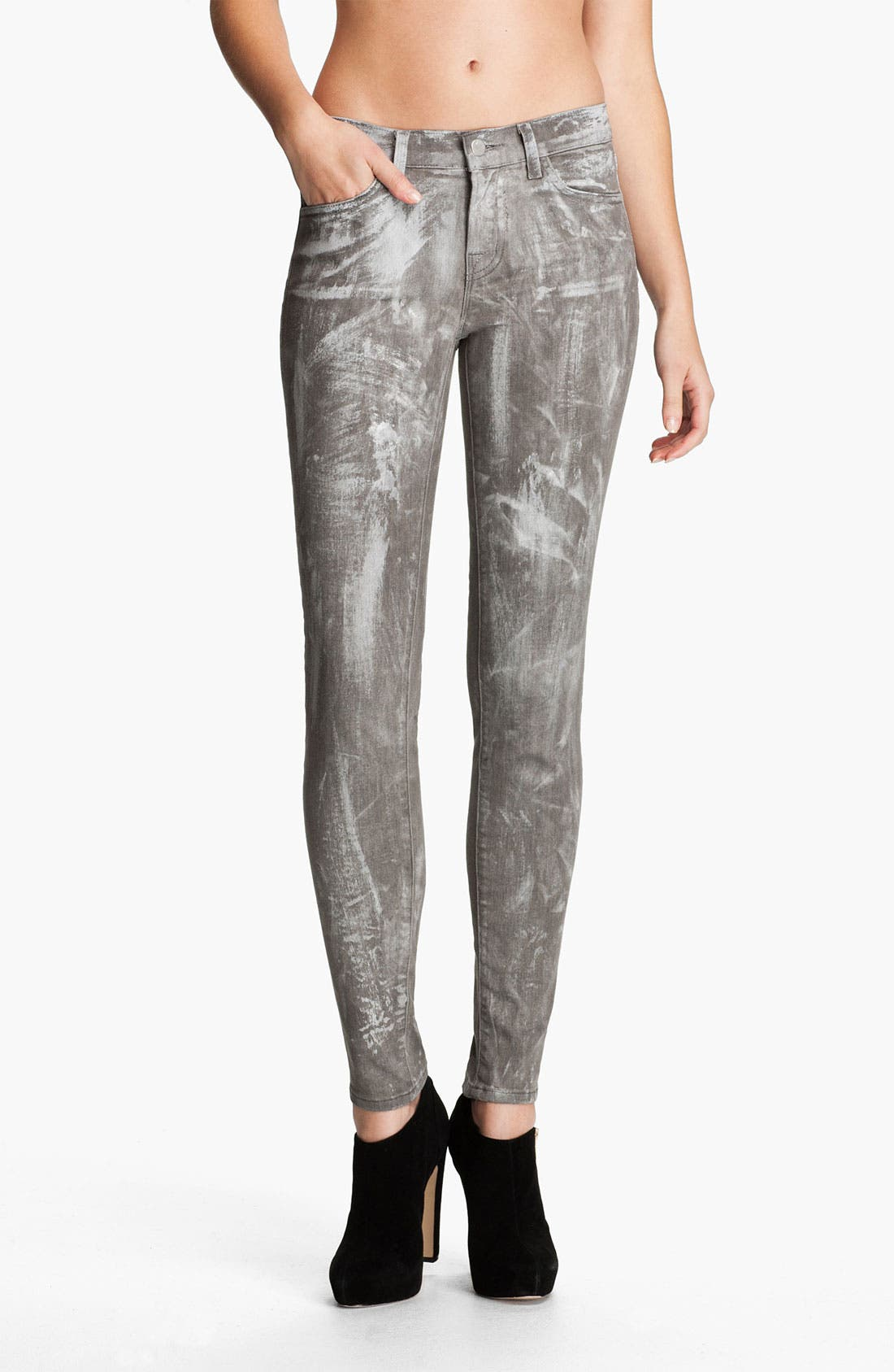 Alternate Image 1 Selected - J Brand Skinny Denim Leggings (Coated Sutra)