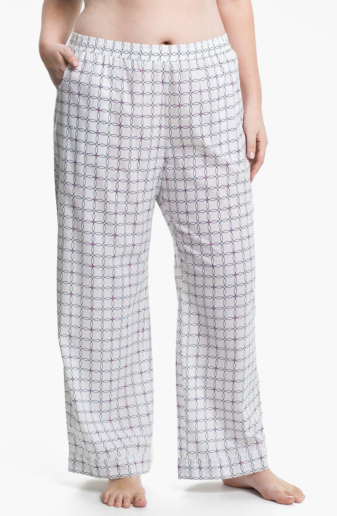 Alternate Image 1 Selected - Shimera Print Pajama Pants (Plus) (Online Exclusive)
