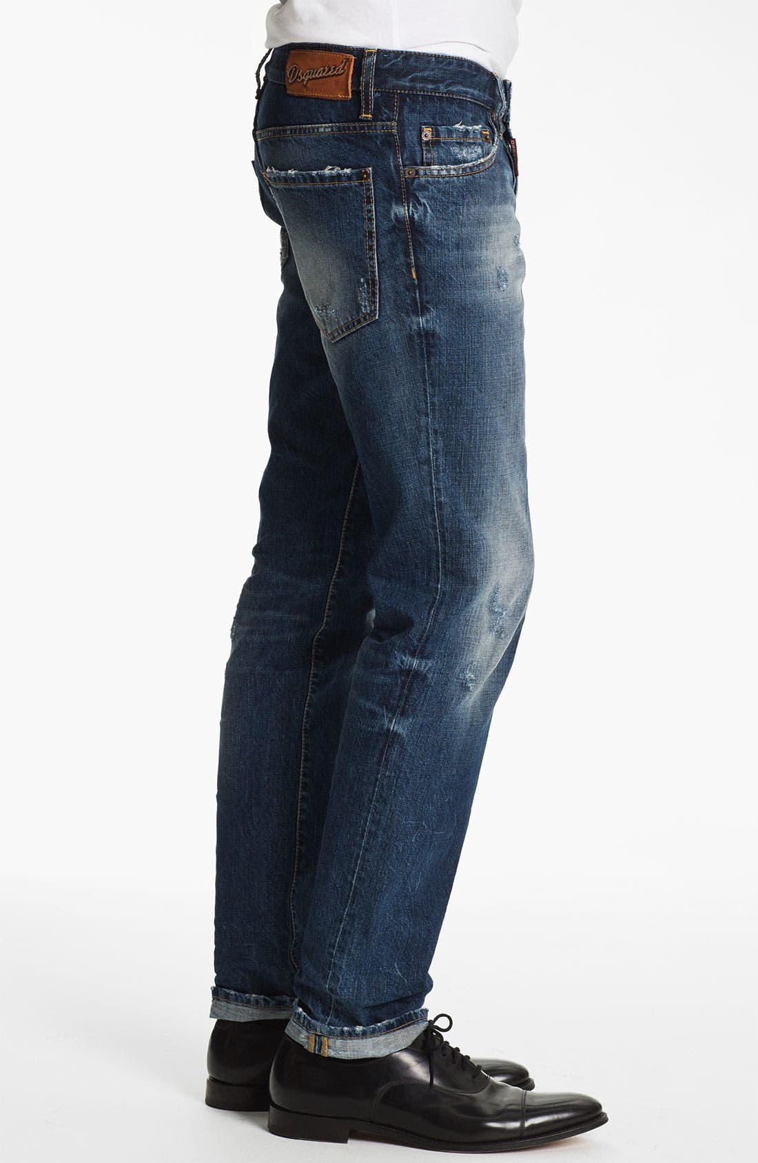 Alternate Image 3  - Dsquared2 Slim Fit Jeans (Blue)