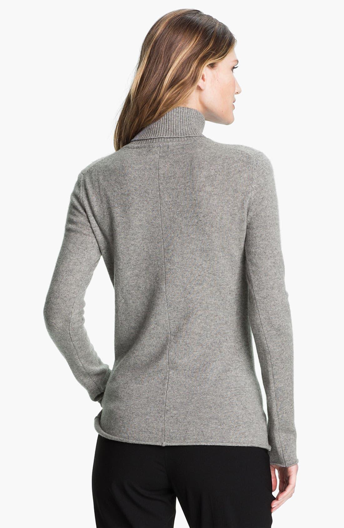 Alternate Image 2  - Pure Amici Cashmere Turtleneck Sweater
