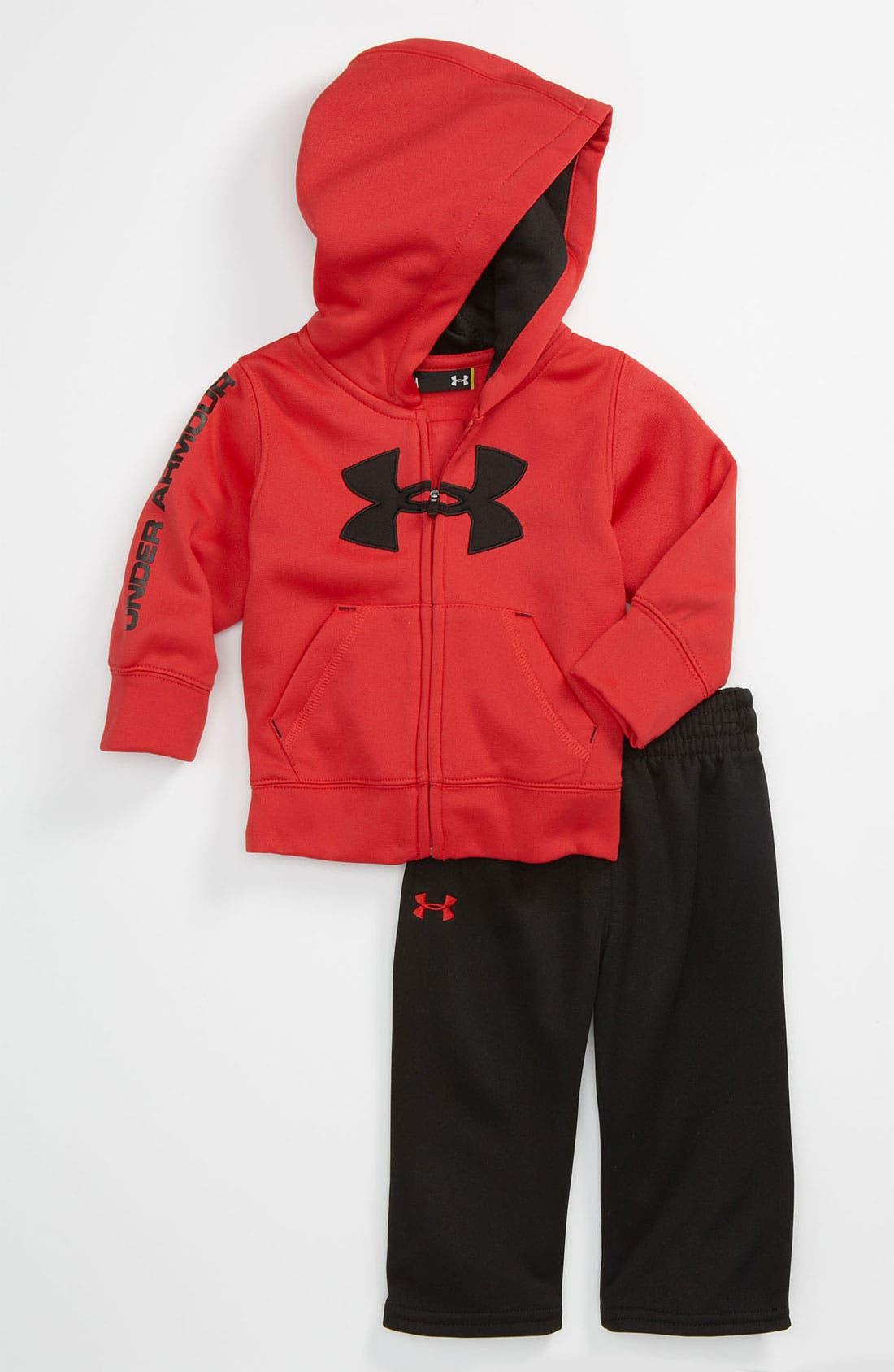 Alternate Image 1 Selected - Under Armour Zip Hoodie & Pants (Infant)