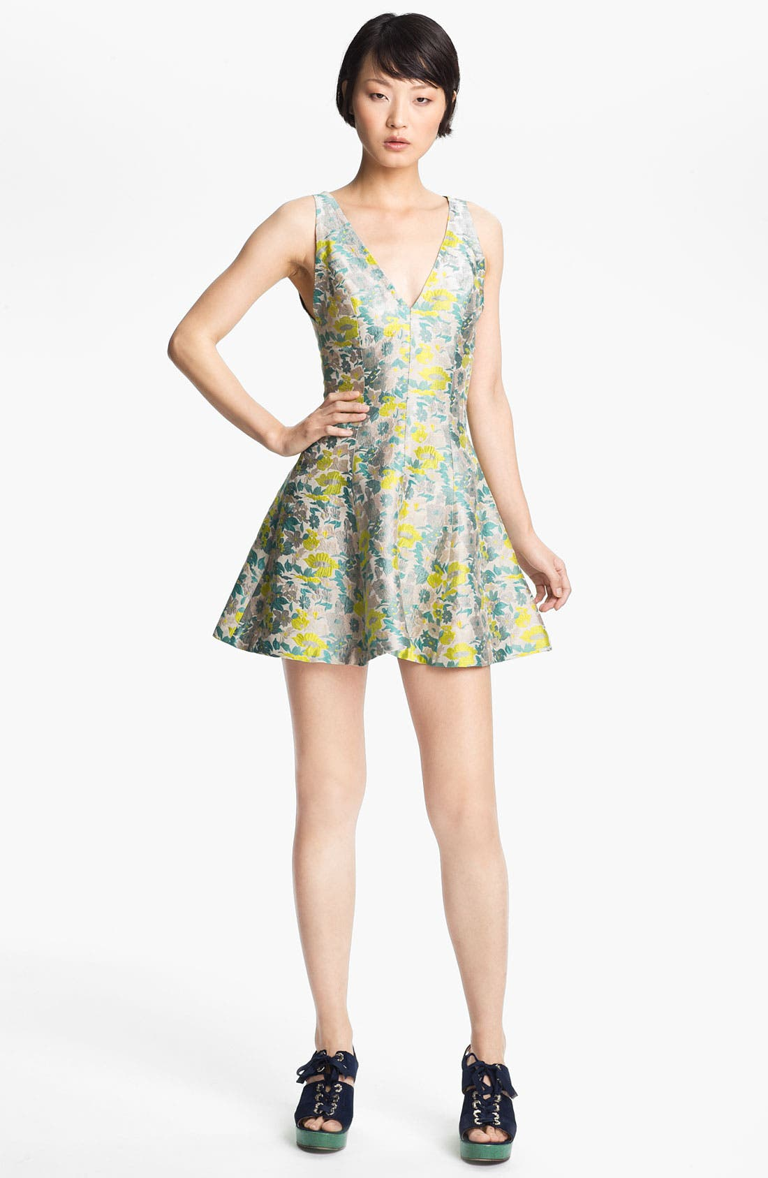 Alternate Image 1 Selected - Opening Ceremony Floral Jacquard Dress