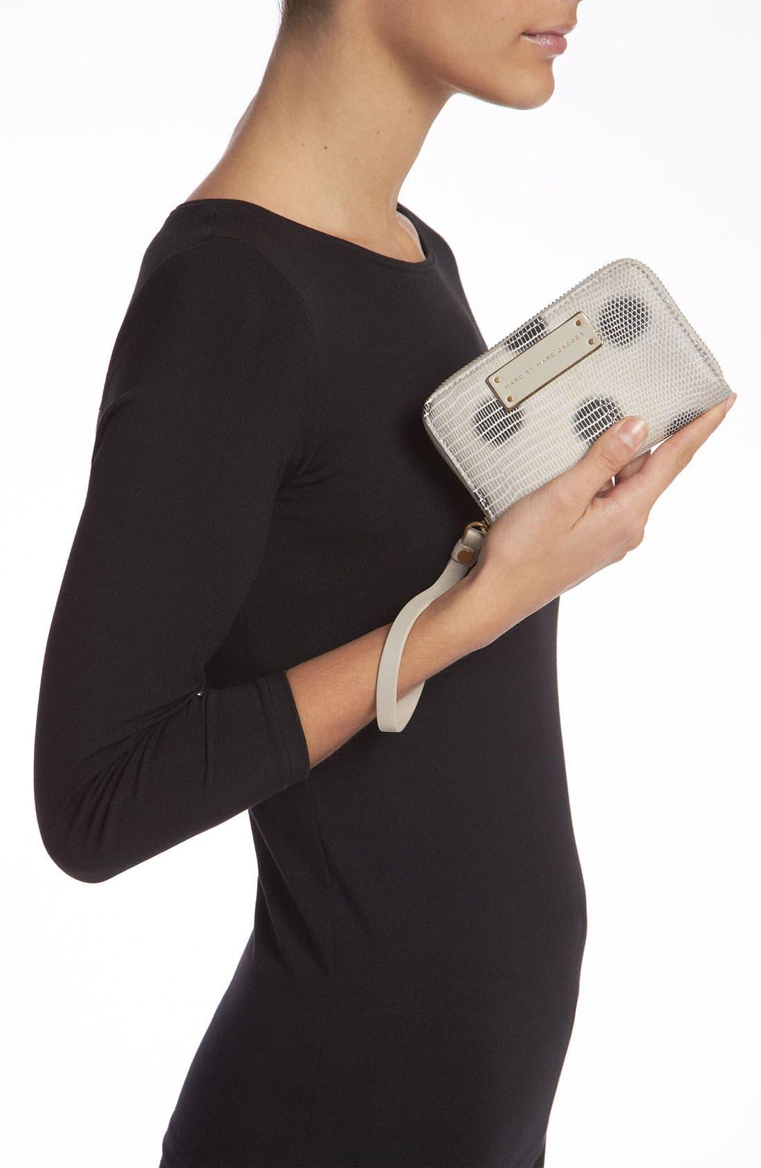 Alternate Image 2  - MARC BY MARC JACOBS 'Take Me Wingman - Lizzie Spot' Embossed Phone Wallet