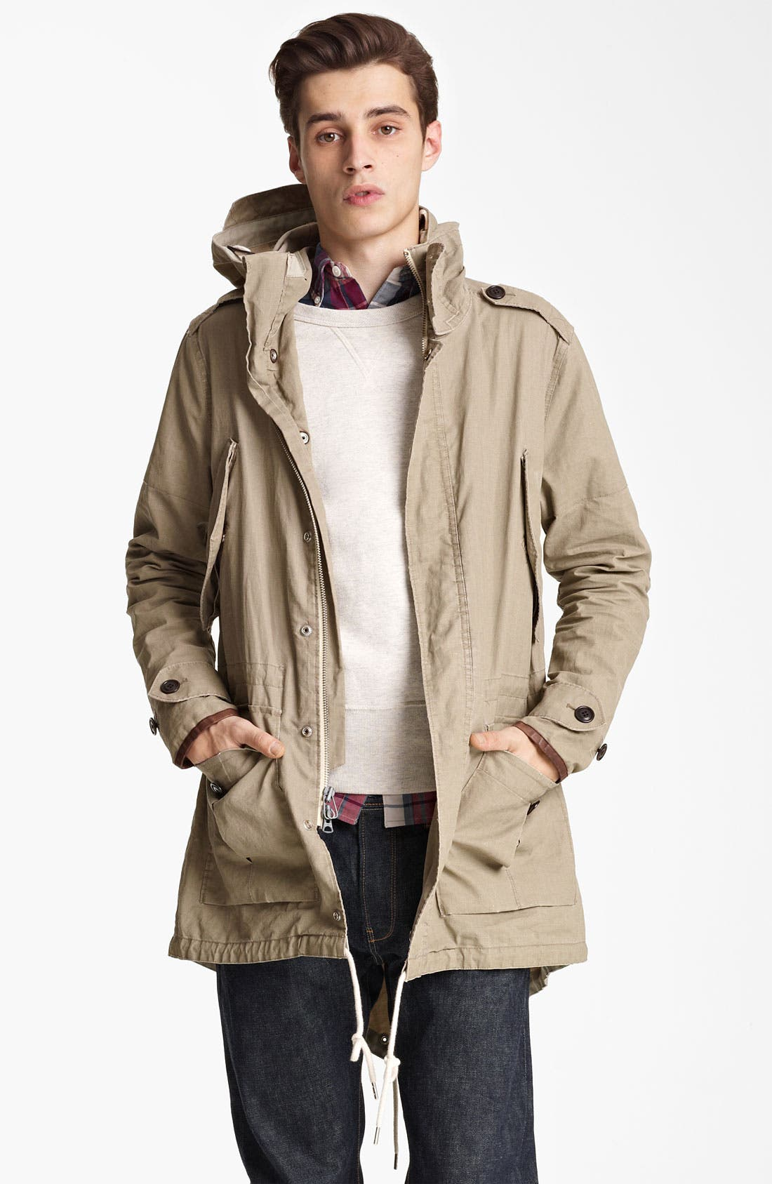 Alternate Image 1 Selected - Todd Snyder 'Flight' Ramie Fishtail Parka