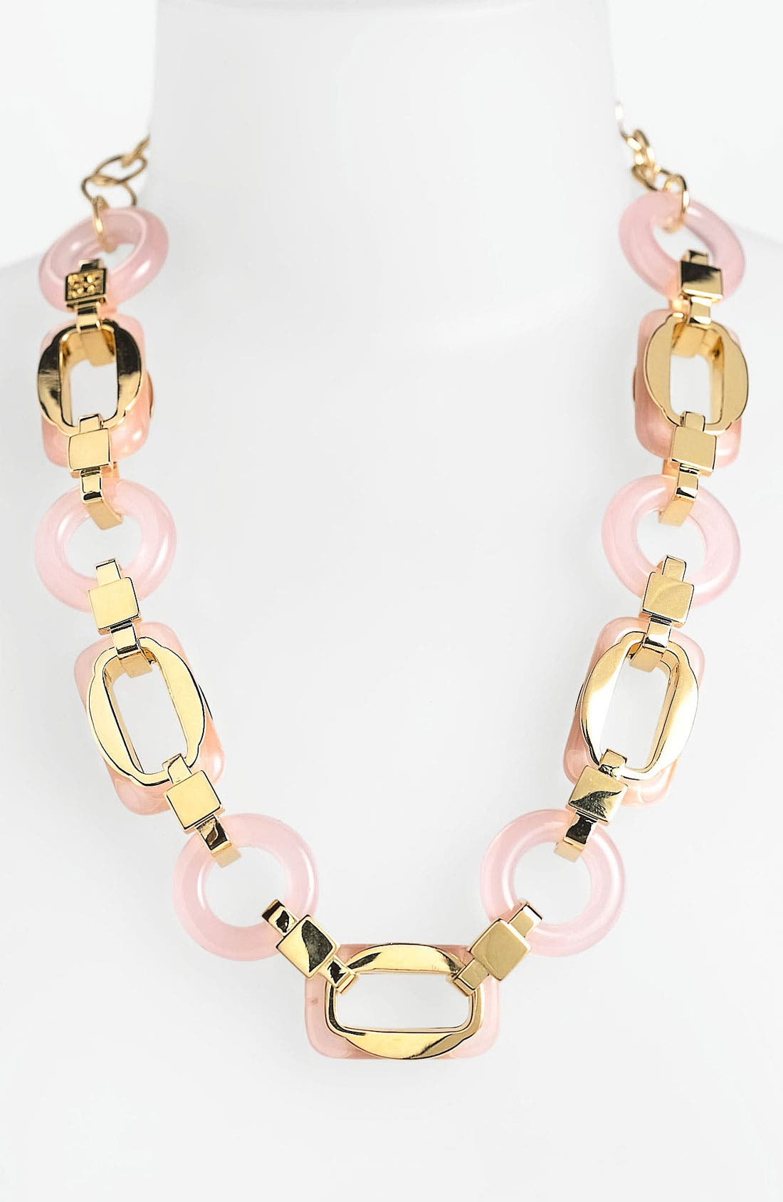 'Lucas' Link Necklace,                         Main,                         color, Pink/ Gold