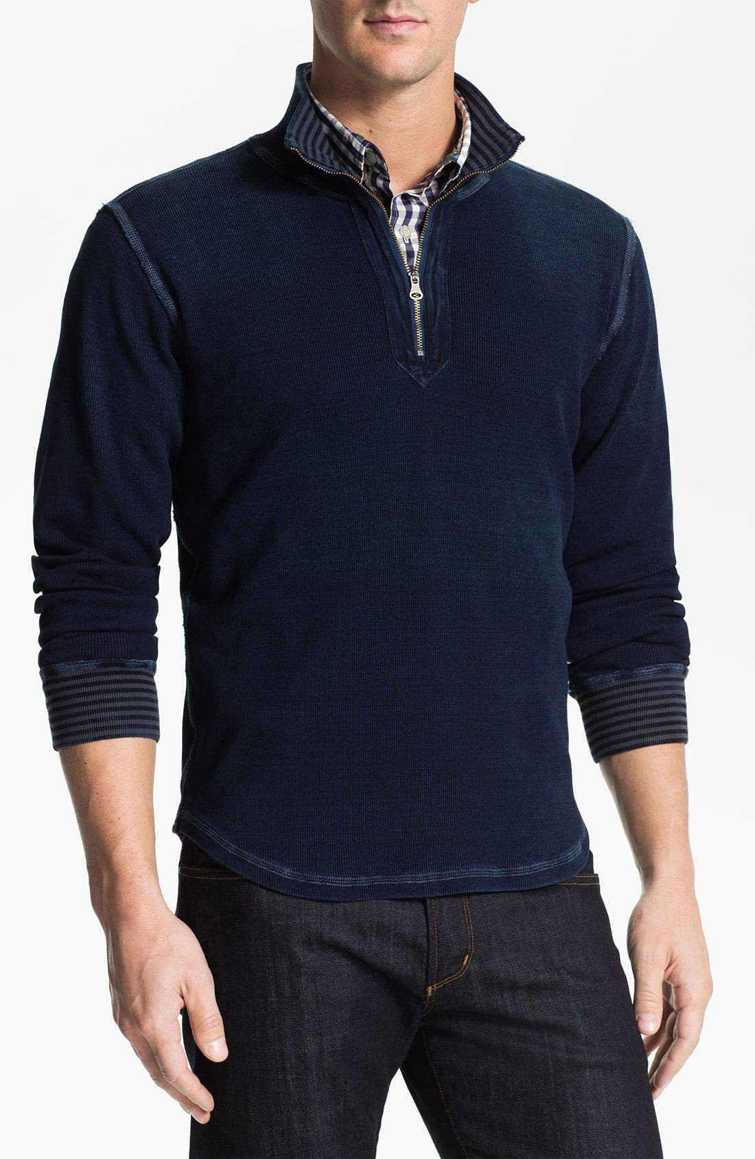 Alternate Image 1 Selected - Robert Graham 'Gable' Mock Neck Pullover