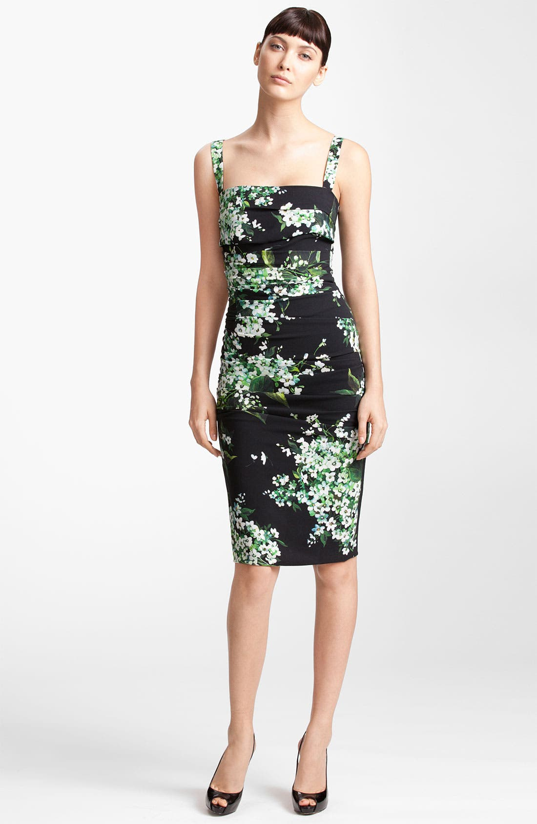 Alternate Image 1 Selected - Dolce&Gabbana Lily Print Stretch Cady Dress