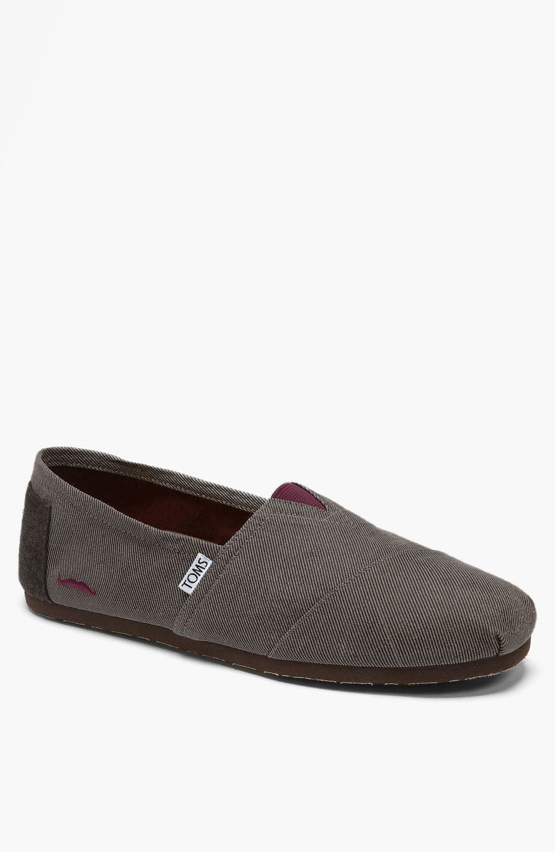 Alternate Image 1 Selected - TOMS 'Classic' Twill Slip-On (Men) (Limited Edition - Movember)