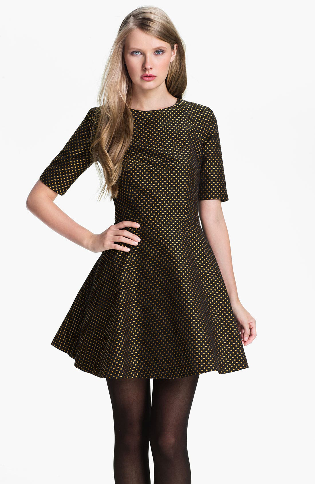 Alternate Image 1 Selected - Ted Baker London Jacquard Fit & Flare Dress