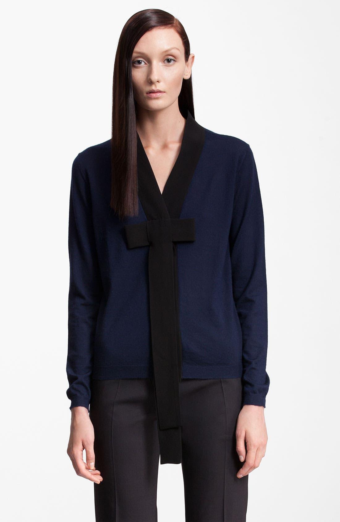 Alternate Image 1 Selected - Marni Bicolor Bow Cashmere Cardigan