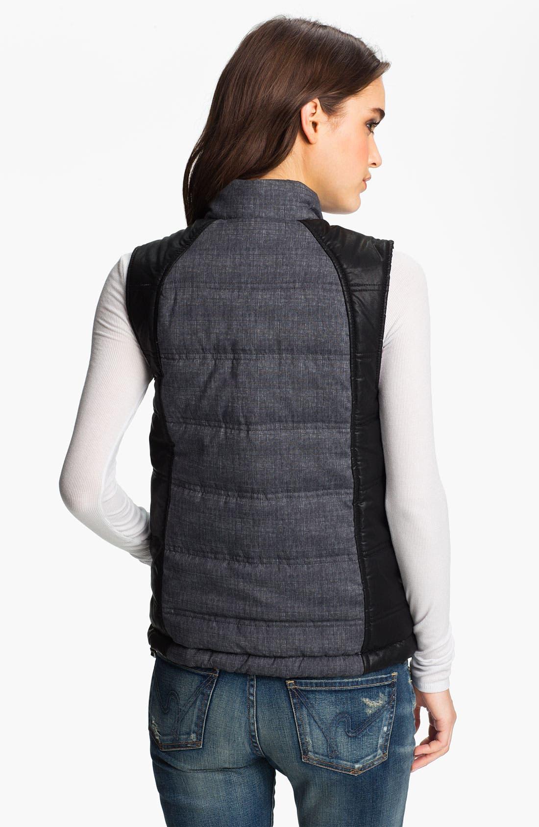 Alternate Image 2  - Trouvé Colorblock Plaid Puffy Vest