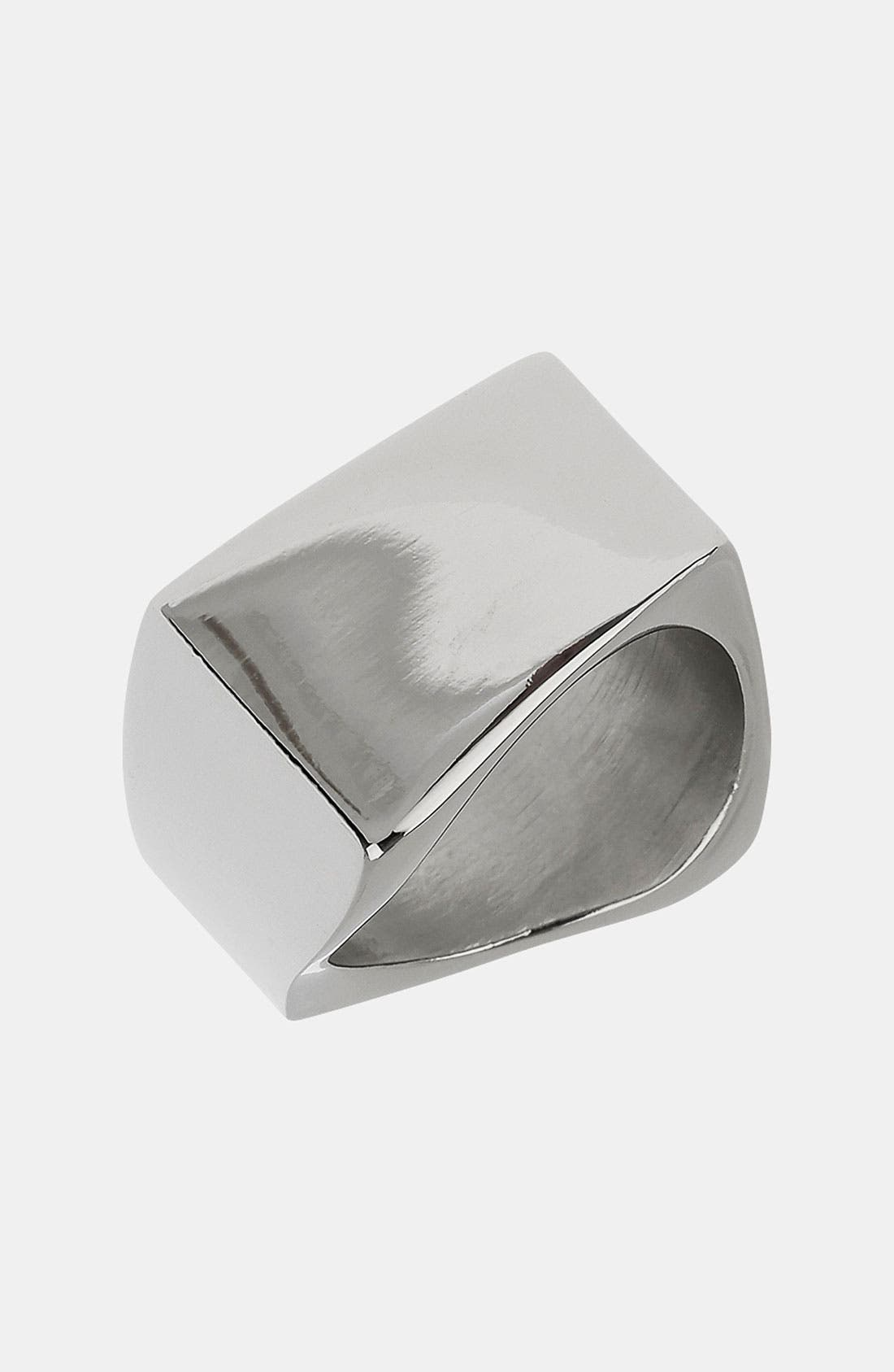 Main Image - Topman 'Point Plain' Band Ring