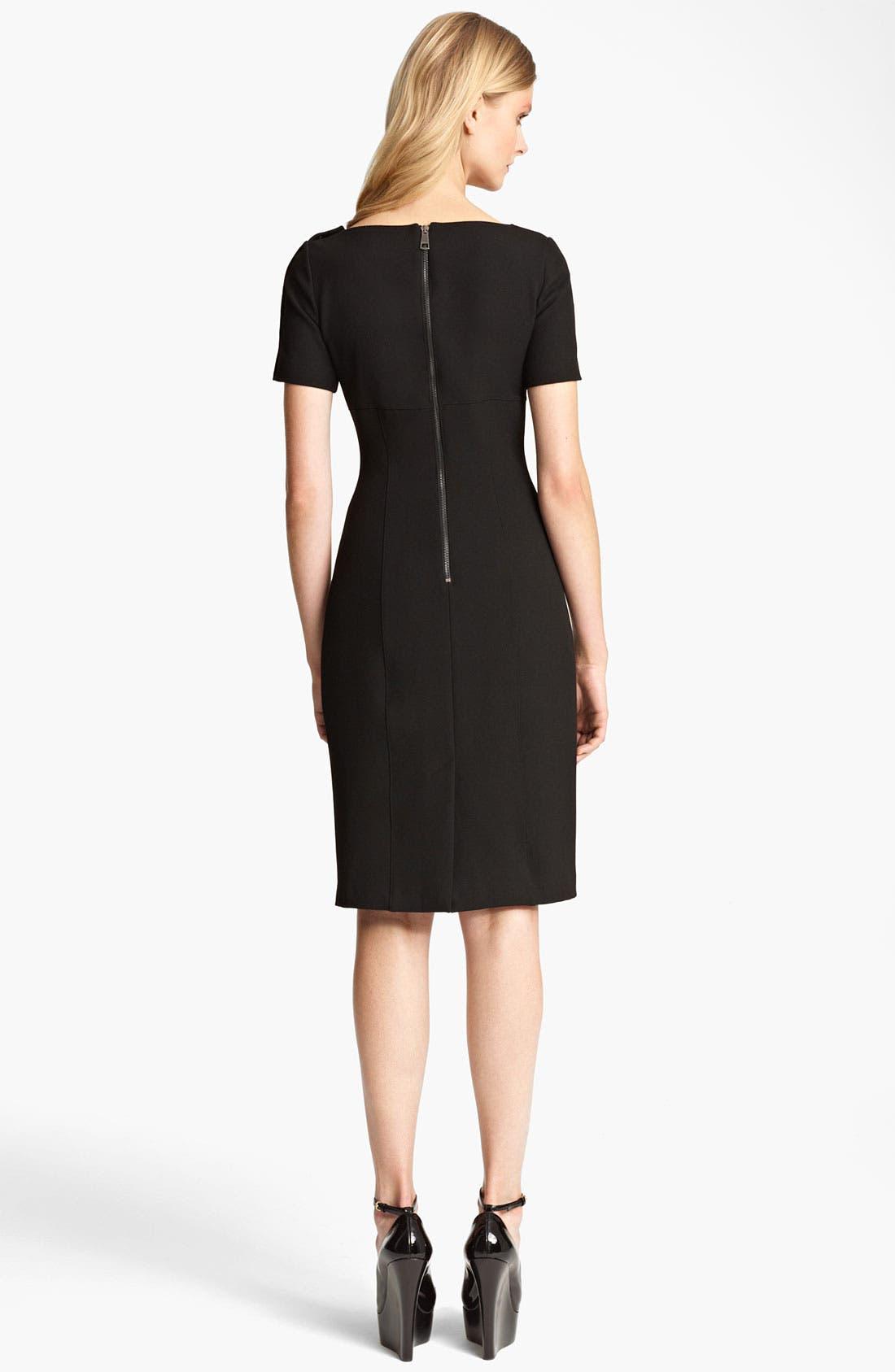 Alternate Image 2  - Burberry London Crepe Dress