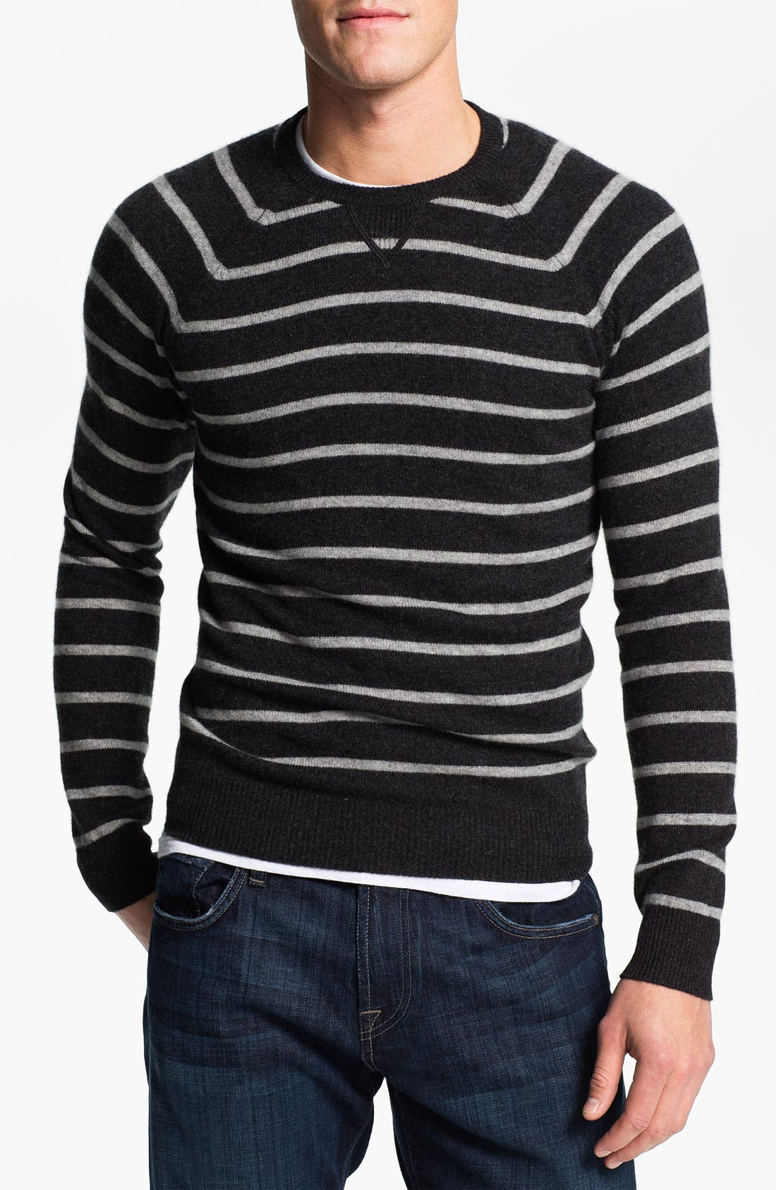 Main Image - 1901 Stripe Cashmere Sweater