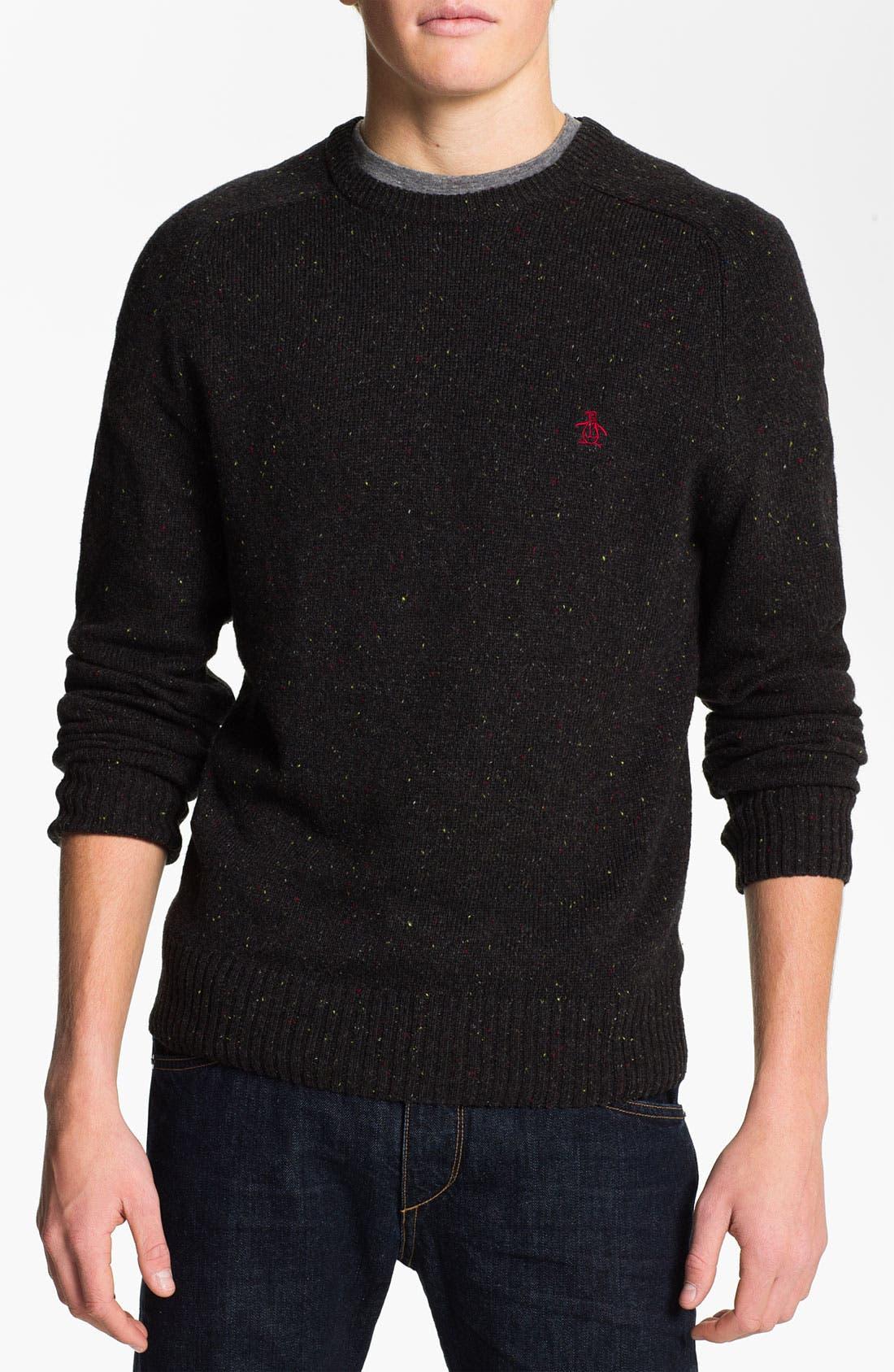 Alternate Image 1 Selected - Original Penguin Speckled Knit Crewneck Sweater