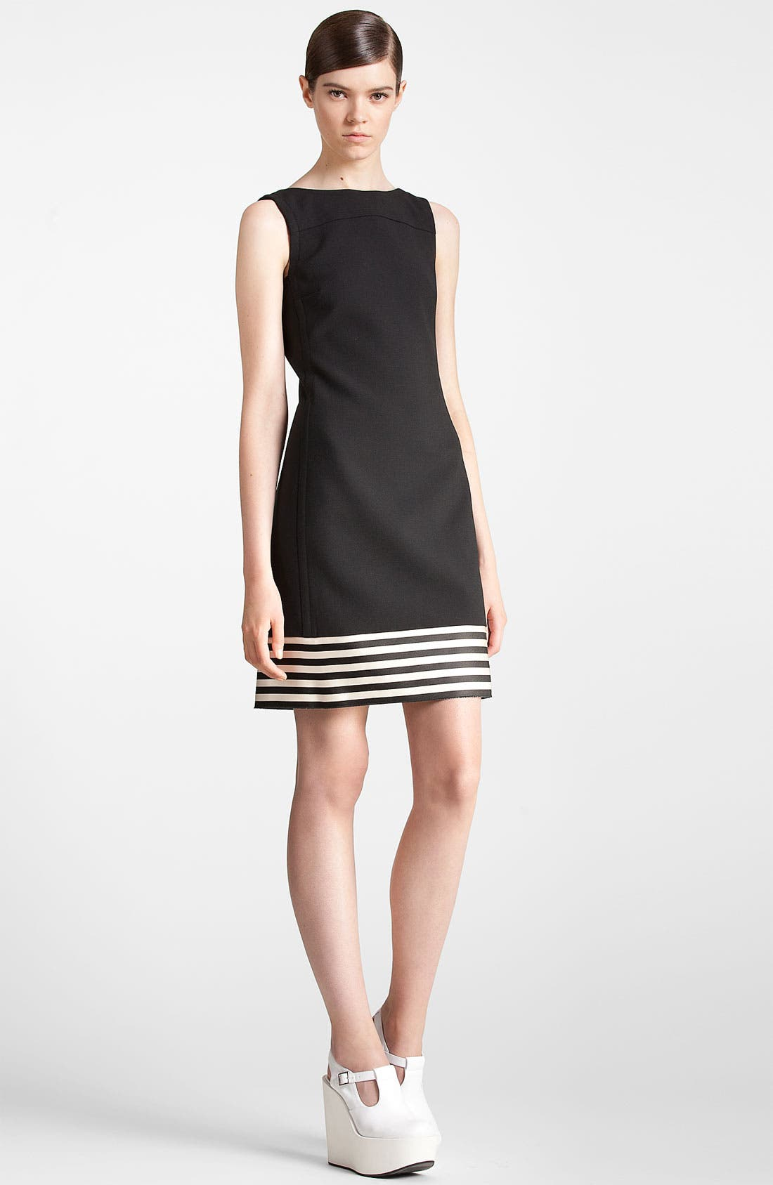Alternate Image 4  - Jil Sander Navy Stripe Hem Dress
