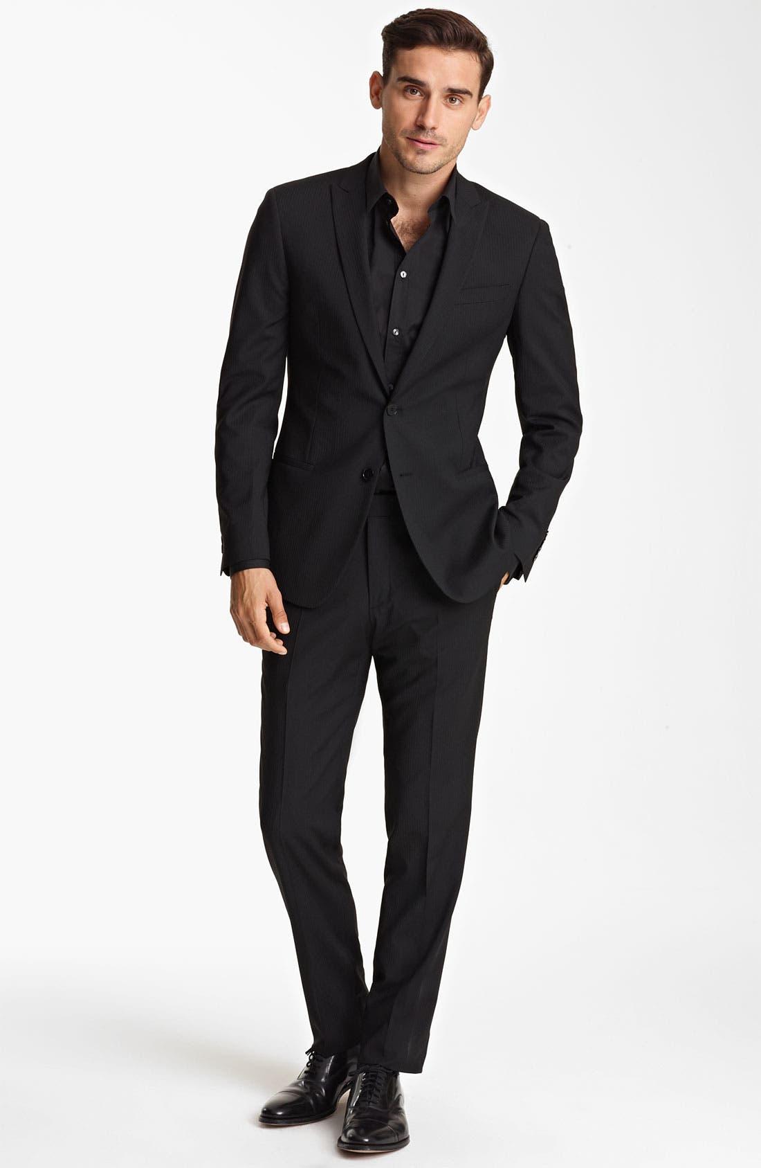 Alternate Image 2  - Dolce&Gabbana Tonal Stripe Suit
