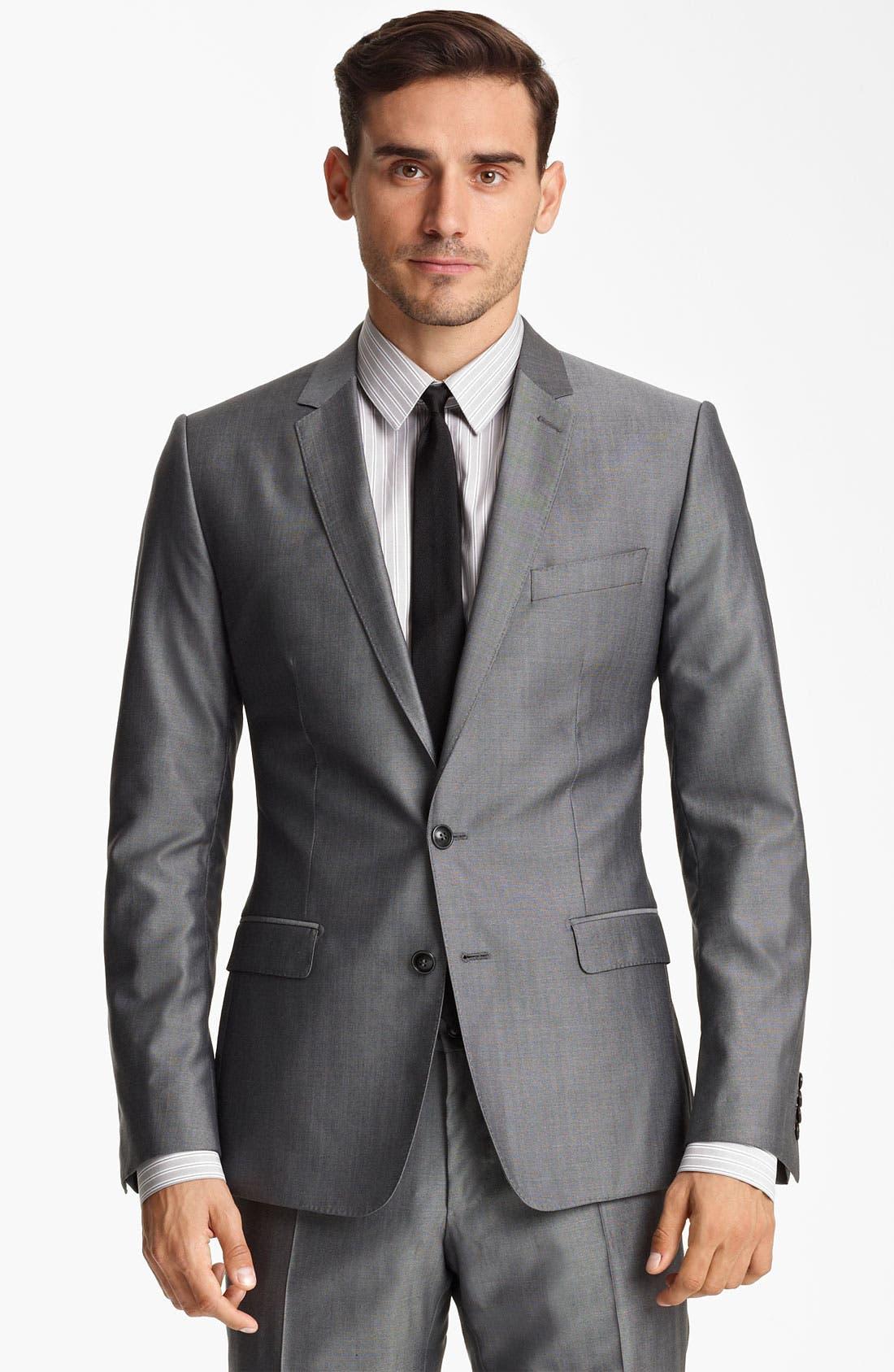 Alternate Image 1 Selected - Dolce&Gabbana Wool & Silk Suit