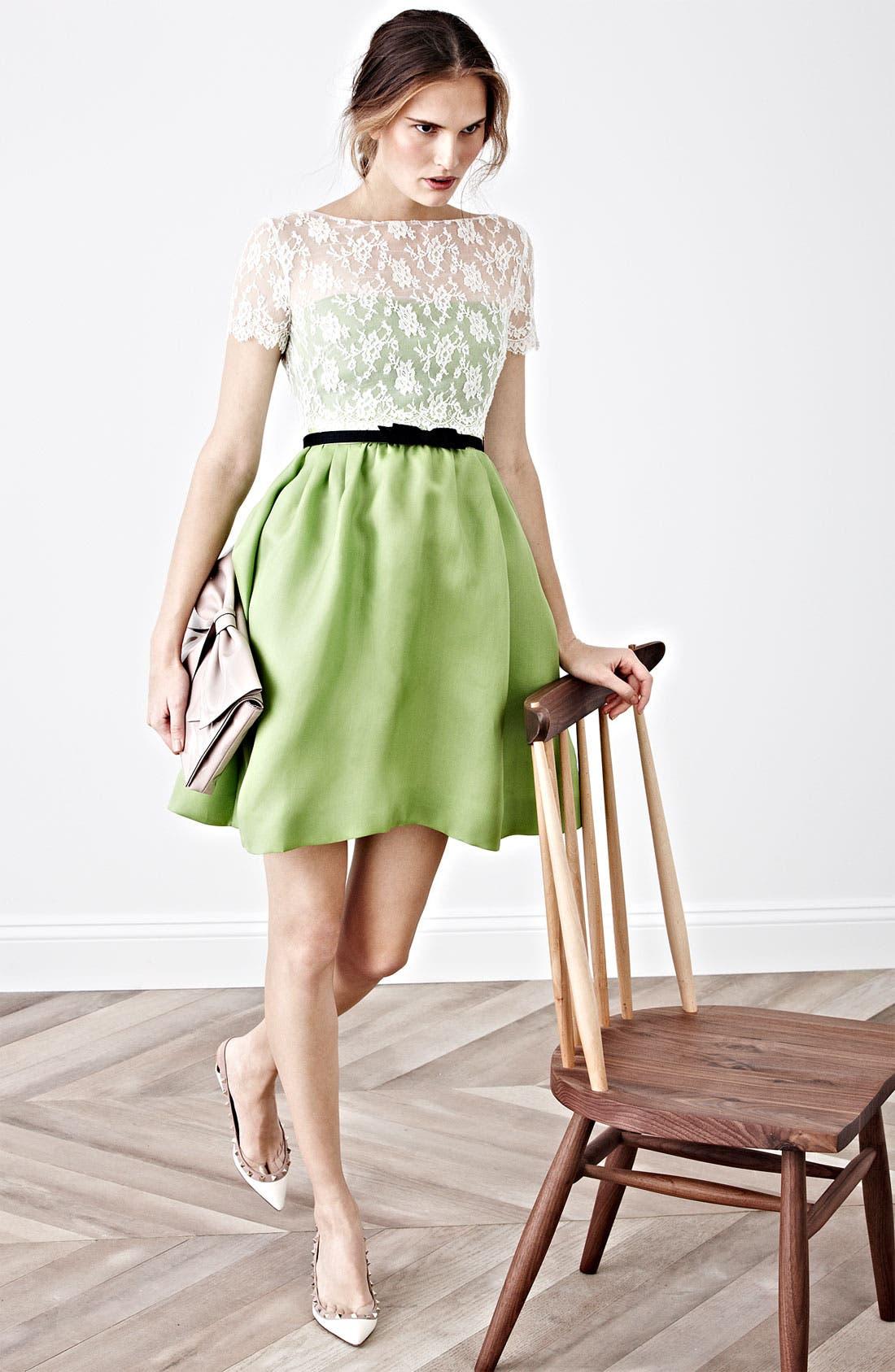 Alternate Image 3  - Valentino Lace & Organza Dress