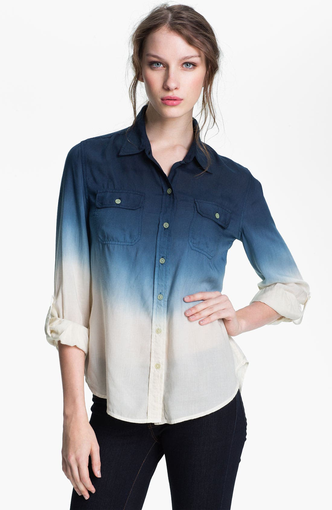 Alternate Image 1 Selected - Lucky Brand 'Brooke' Dip Dye Shirt