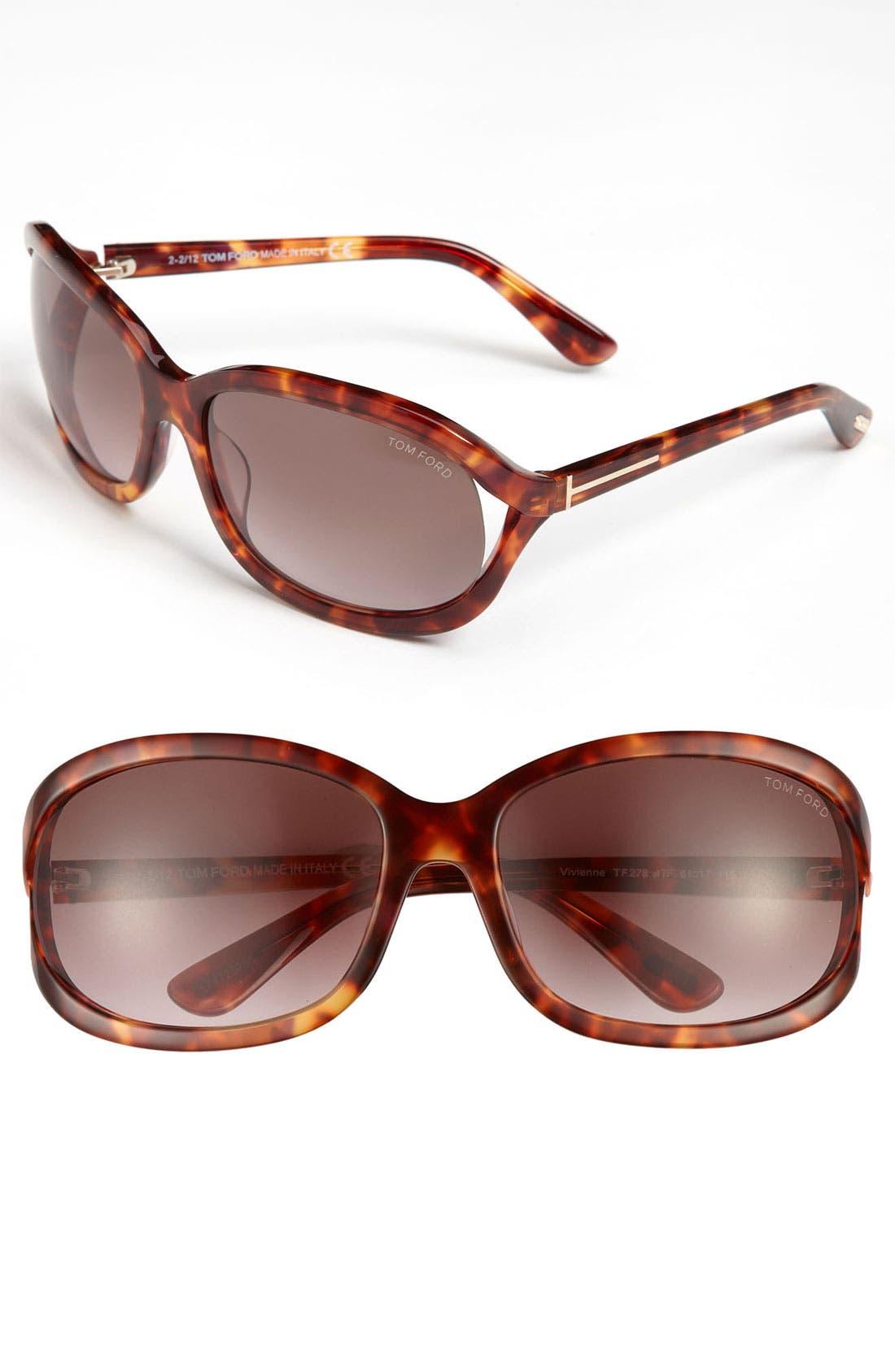 Alternate Image 1 Selected - Tom Ford 'Vivienne' 61mm Sunglasses