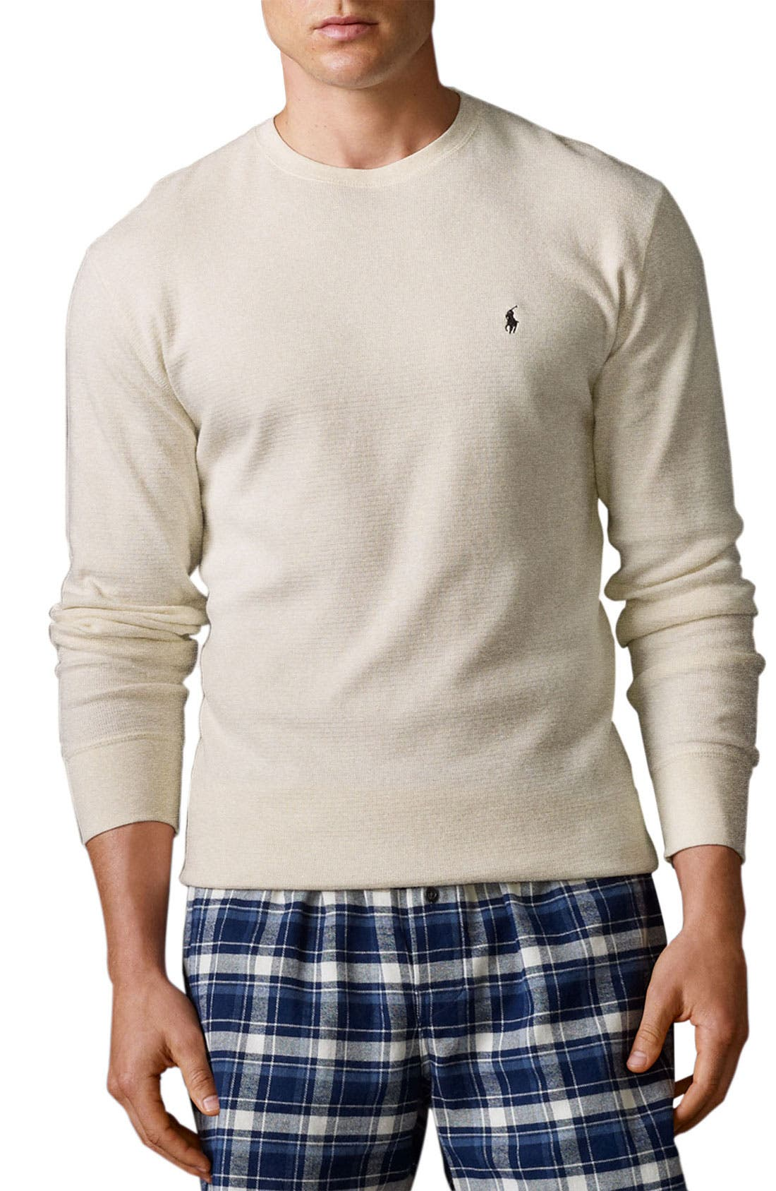 Main Image - Polo Ralph Lauren Thermal Crewneck Lounge Shirt