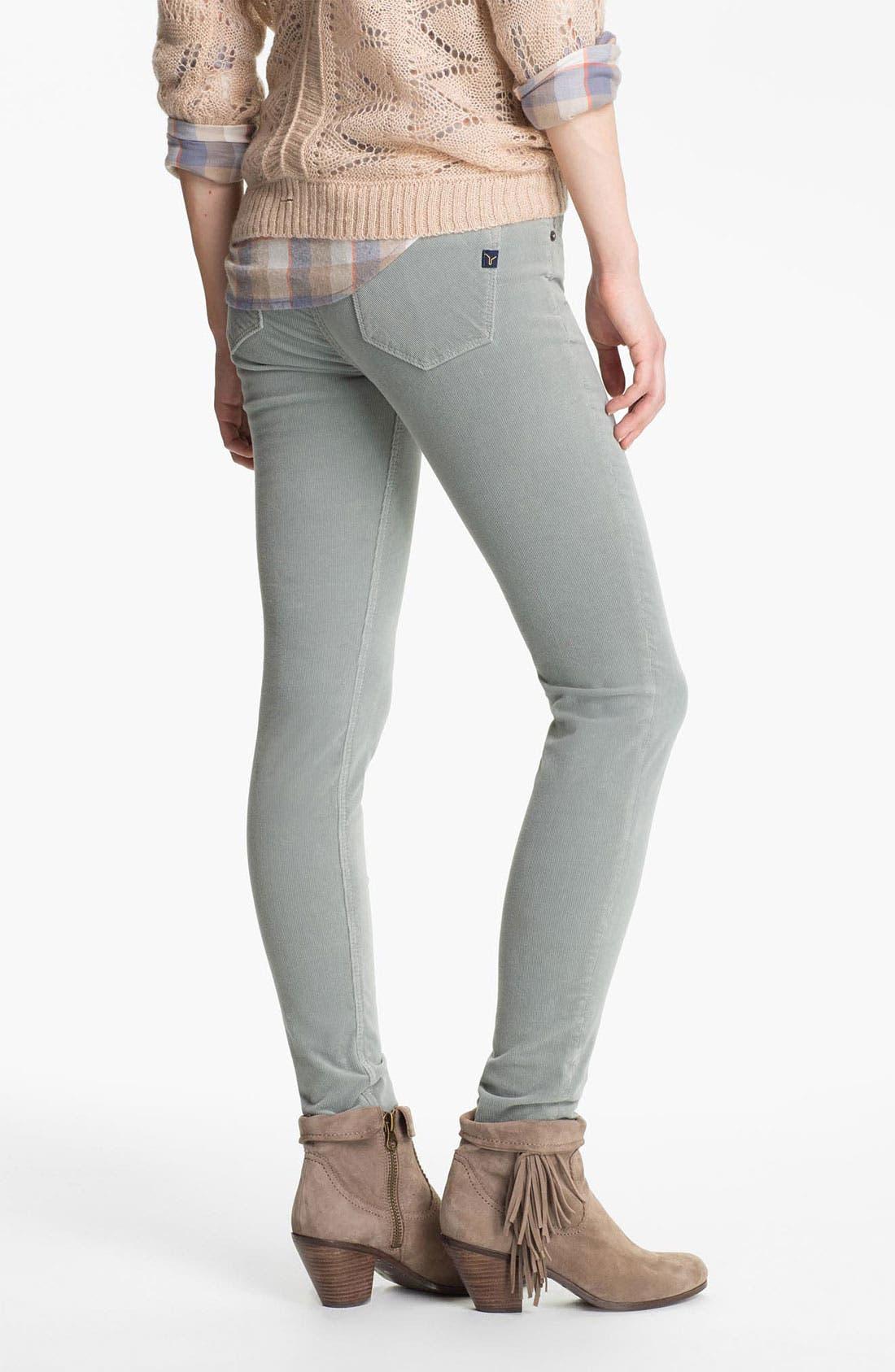 Alternate Image 2  - Vigoss Skinny Stretch Corduroy Pants (Juniors)