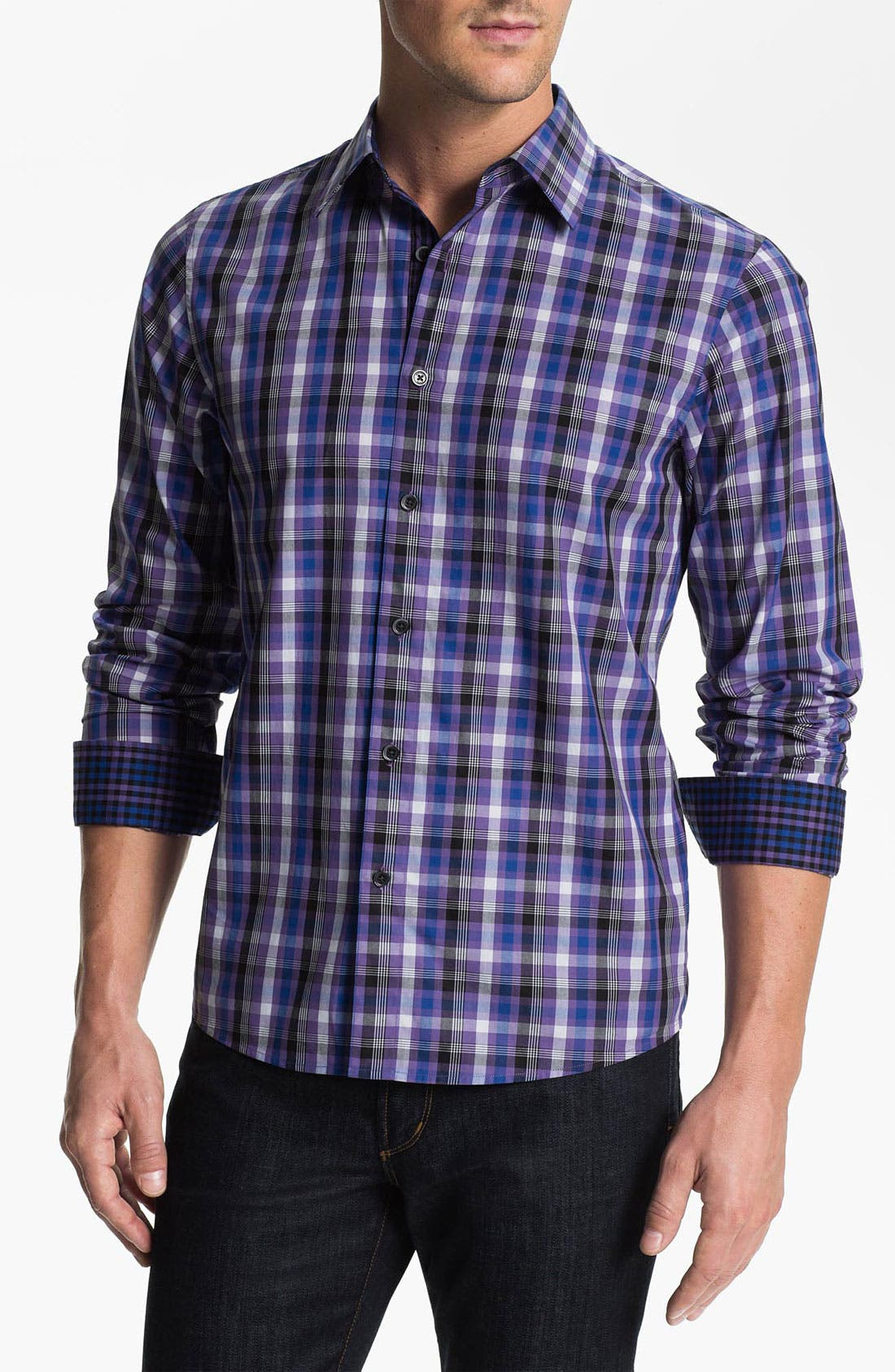 Alternate Image 1 Selected - Michael Kors 'Pace Check' Sport Shirt