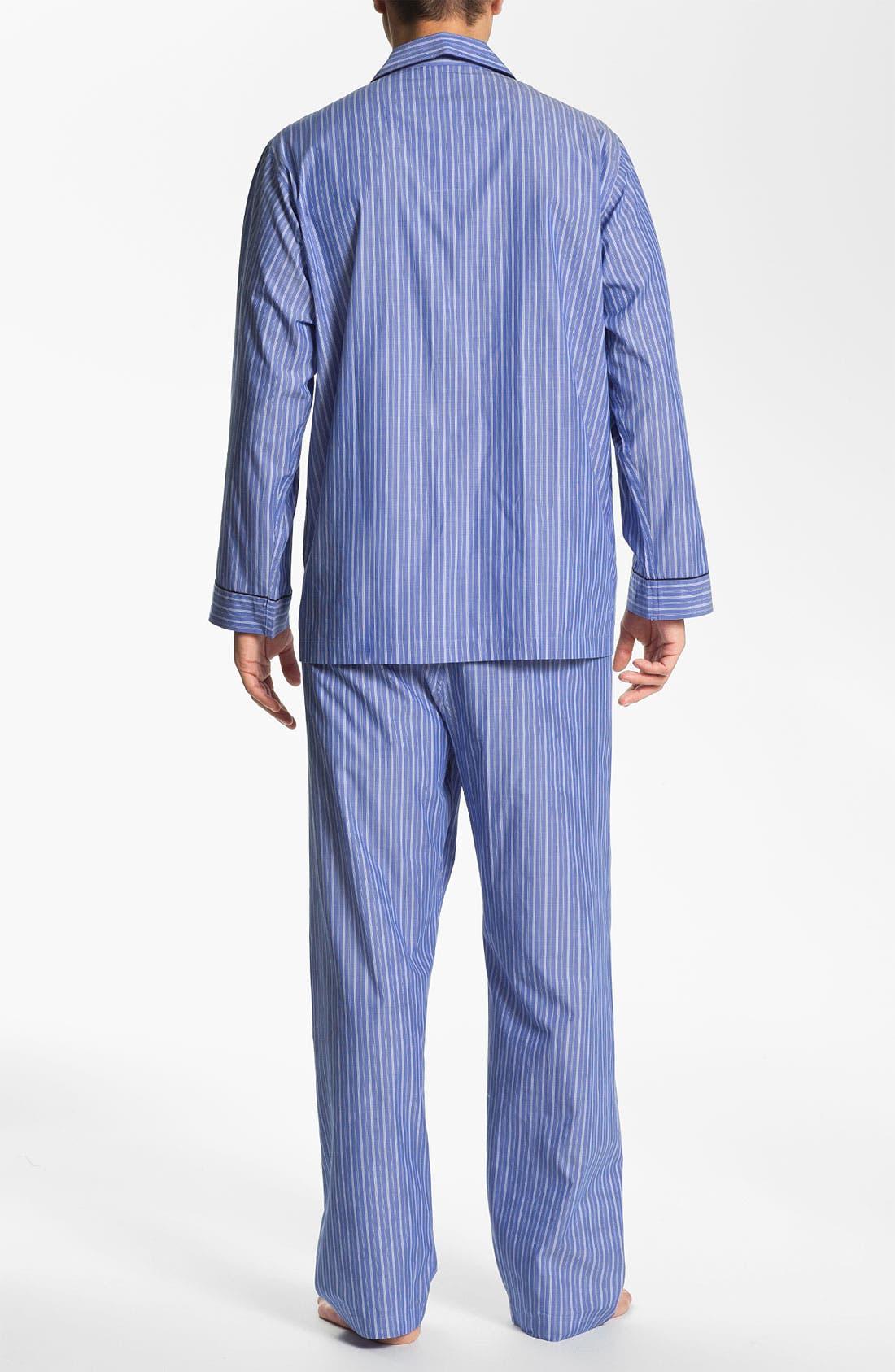 Alternate Image 2  - Brooks Brothers 'Ground Stripe' Pajamas